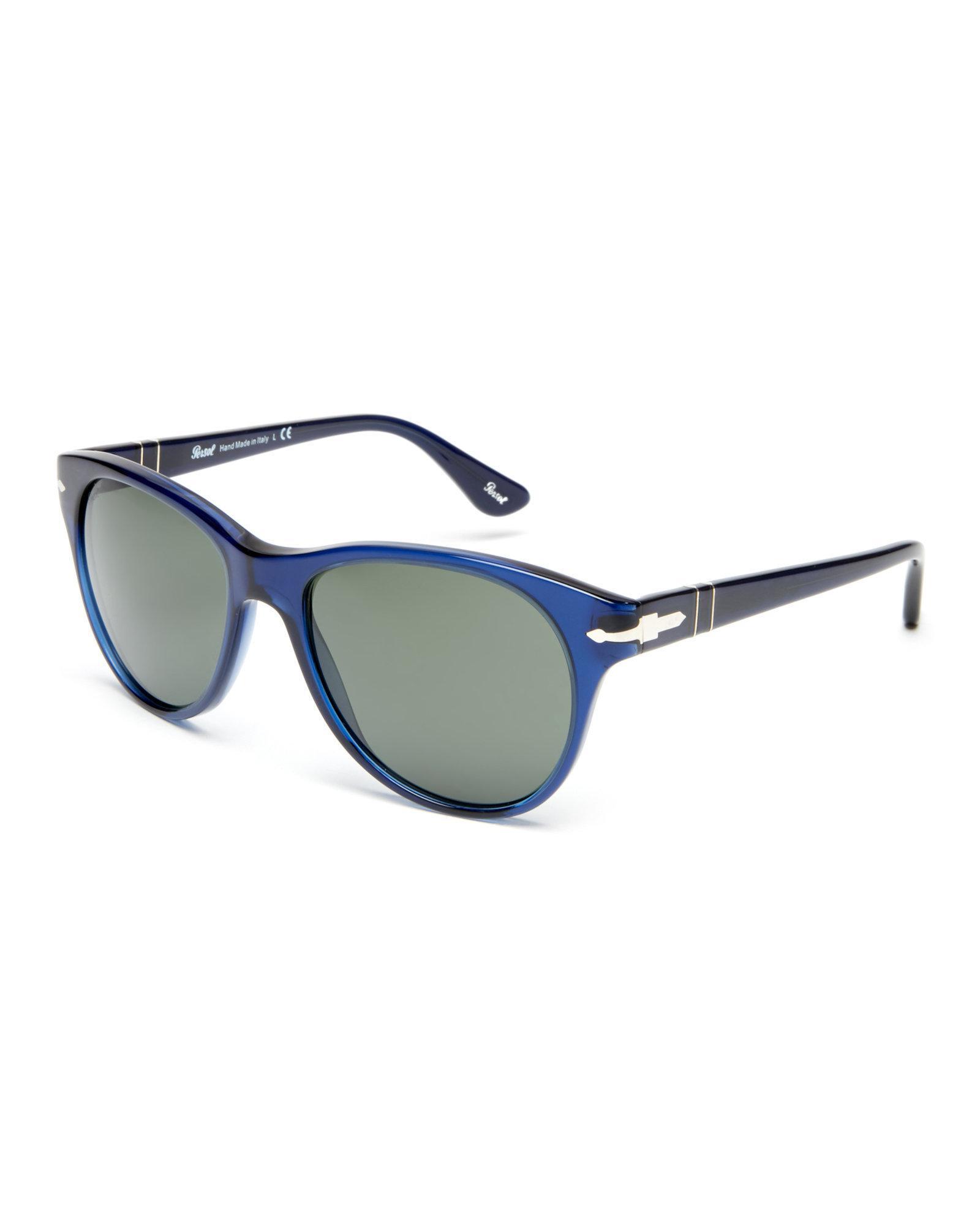 63030d6be36 Lyst - Persol Po3134 Navy Wayfarer Sunglasses in Blue