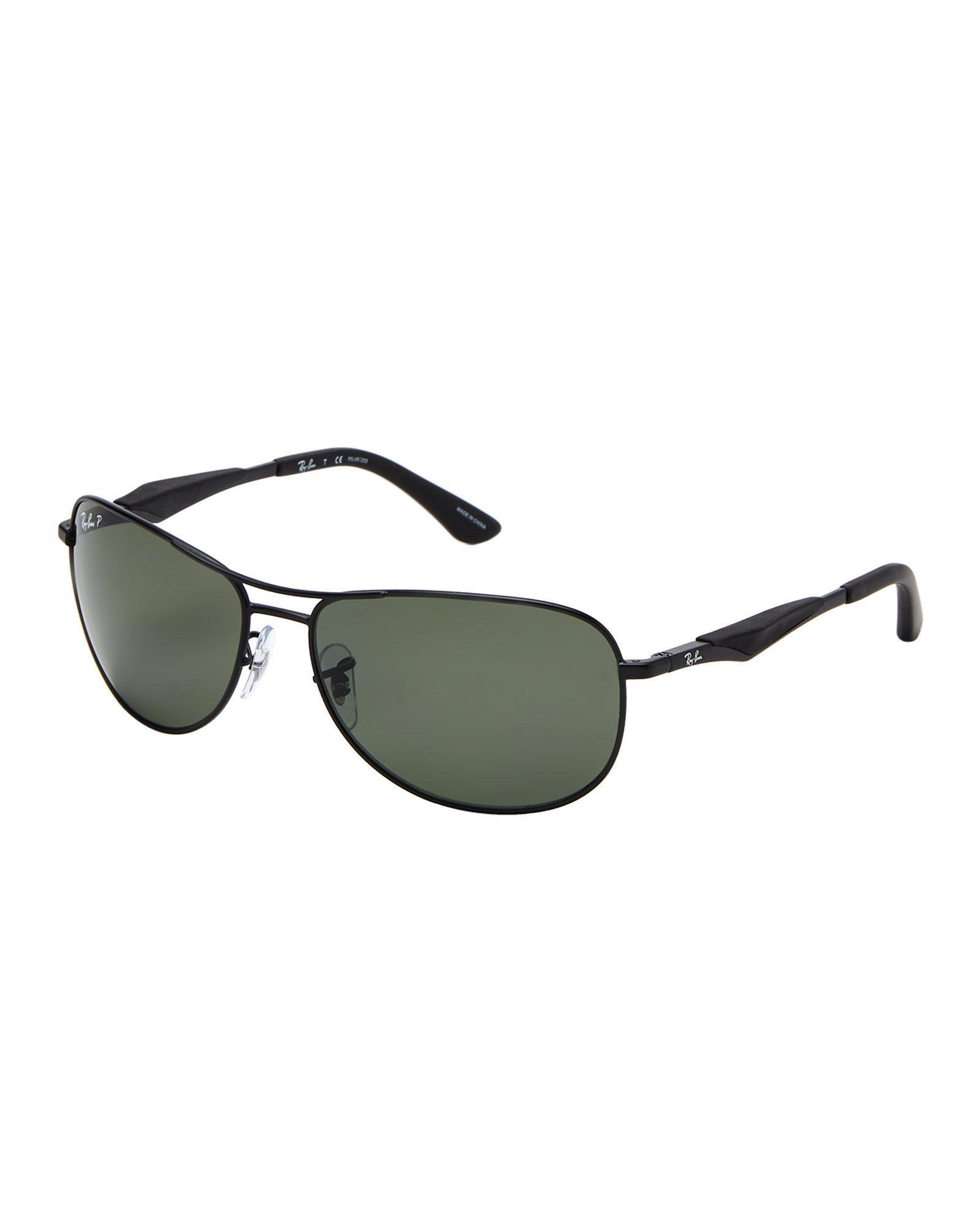 01c971e2787 Lyst - Ray-Ban Rb 3519 Matte Black Polarized Navigator Sunglasses in ...