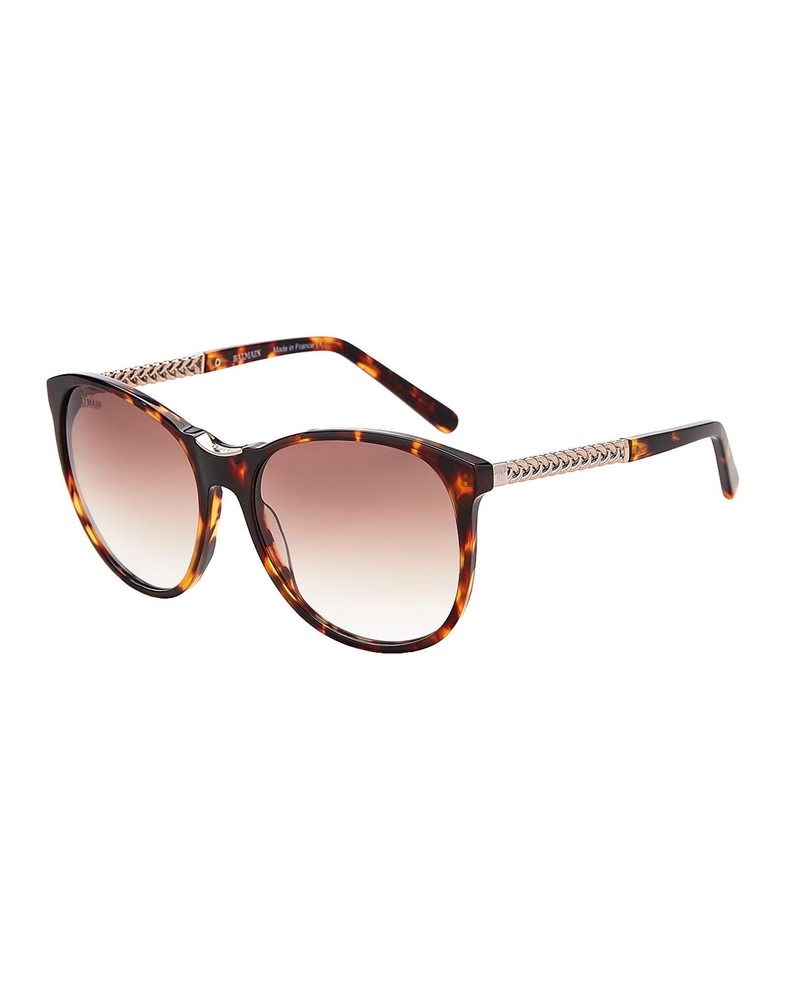 49296d4071 Lyst - Balmain Bl2070 Tortoiseshell-look Round Sunglasses in Brown