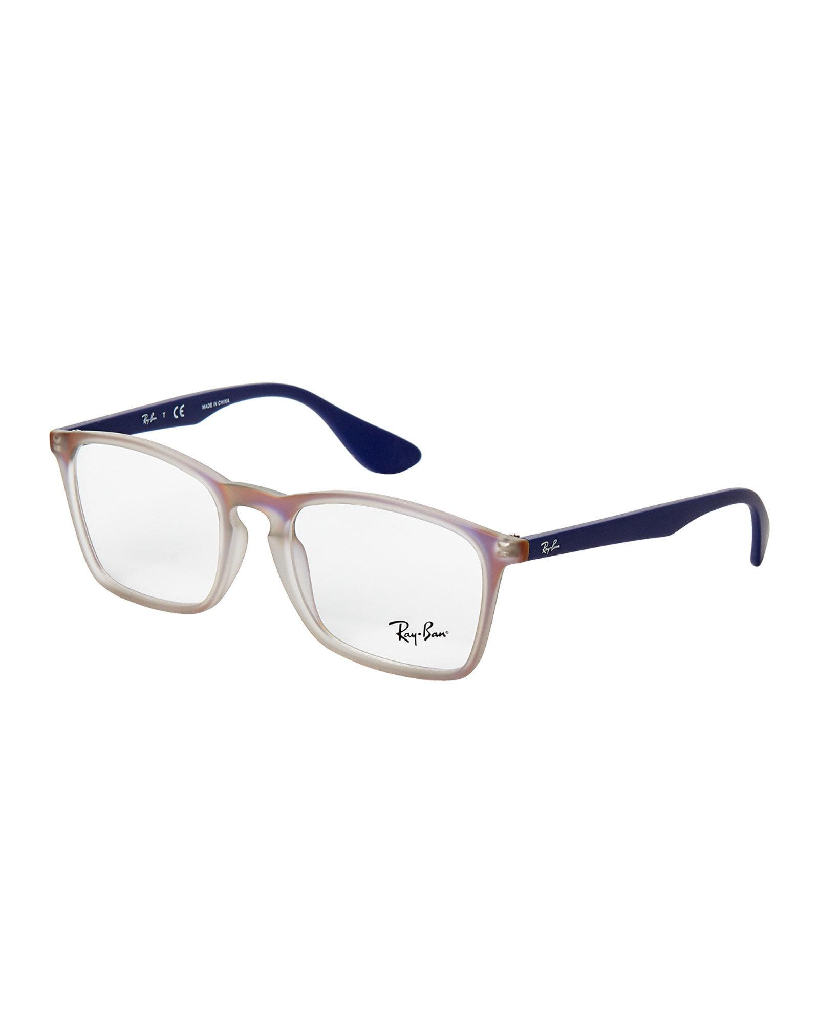 a46507fe61 Lyst - Ray-Ban Rb7045 Two-tone Square Frames in Blue for Men