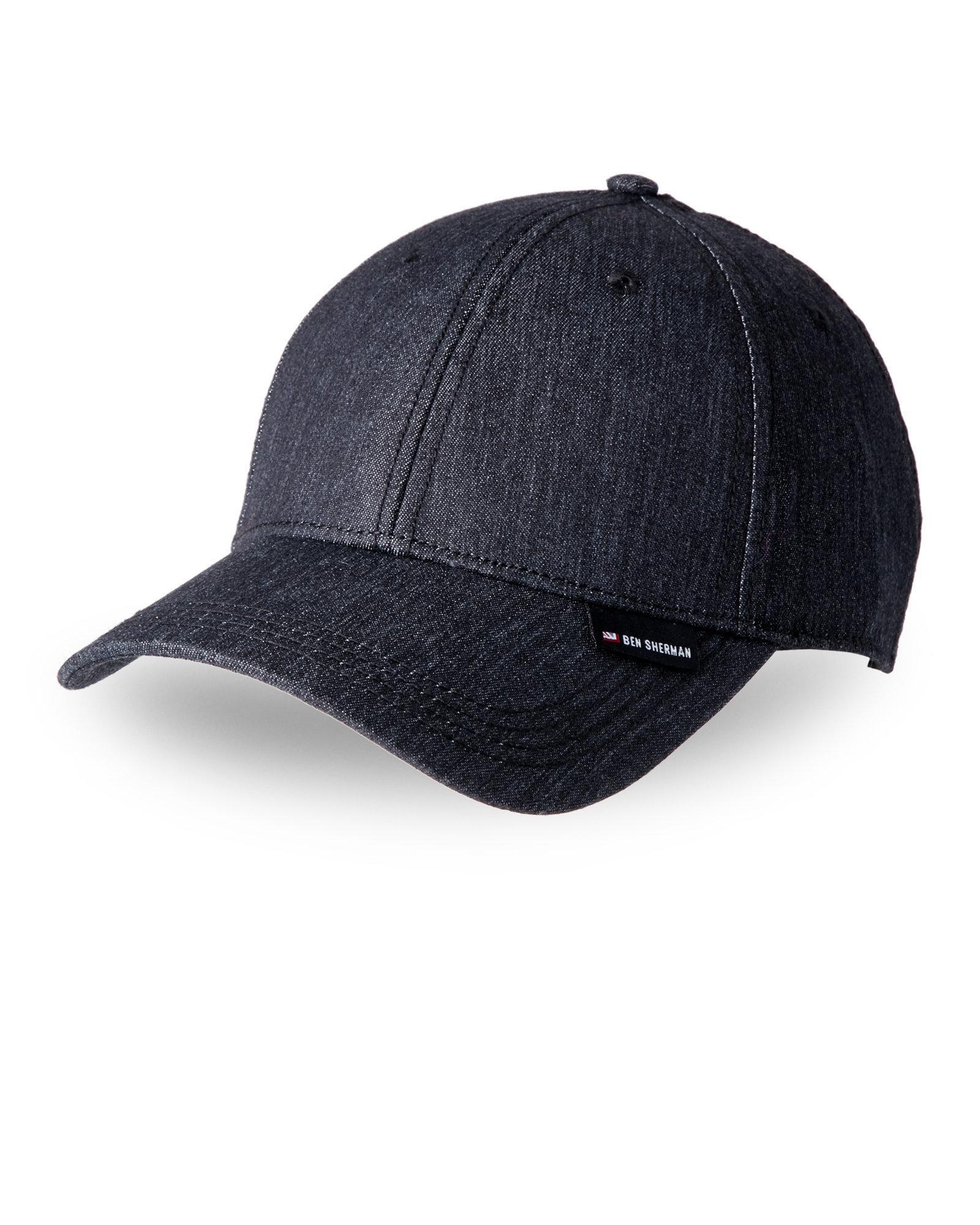 Lyst - Ben Sherman Chambray Baseball Cap in Black for Men 8f5bf04c057