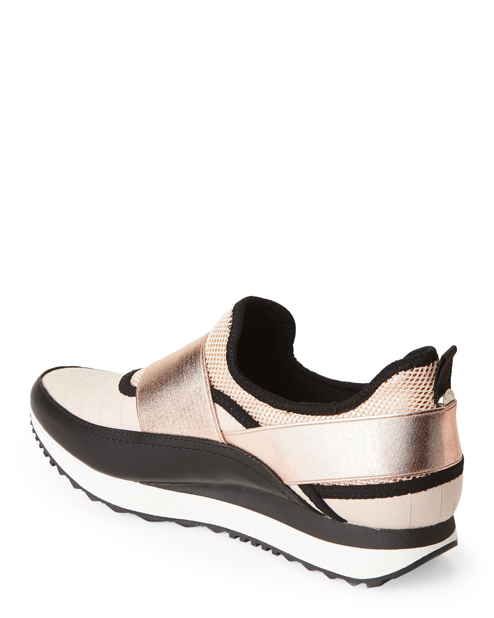 7703d772ee8 Lyst - Steve Madden Rose Gold   Black Haro Slip-on Sneakers in Black