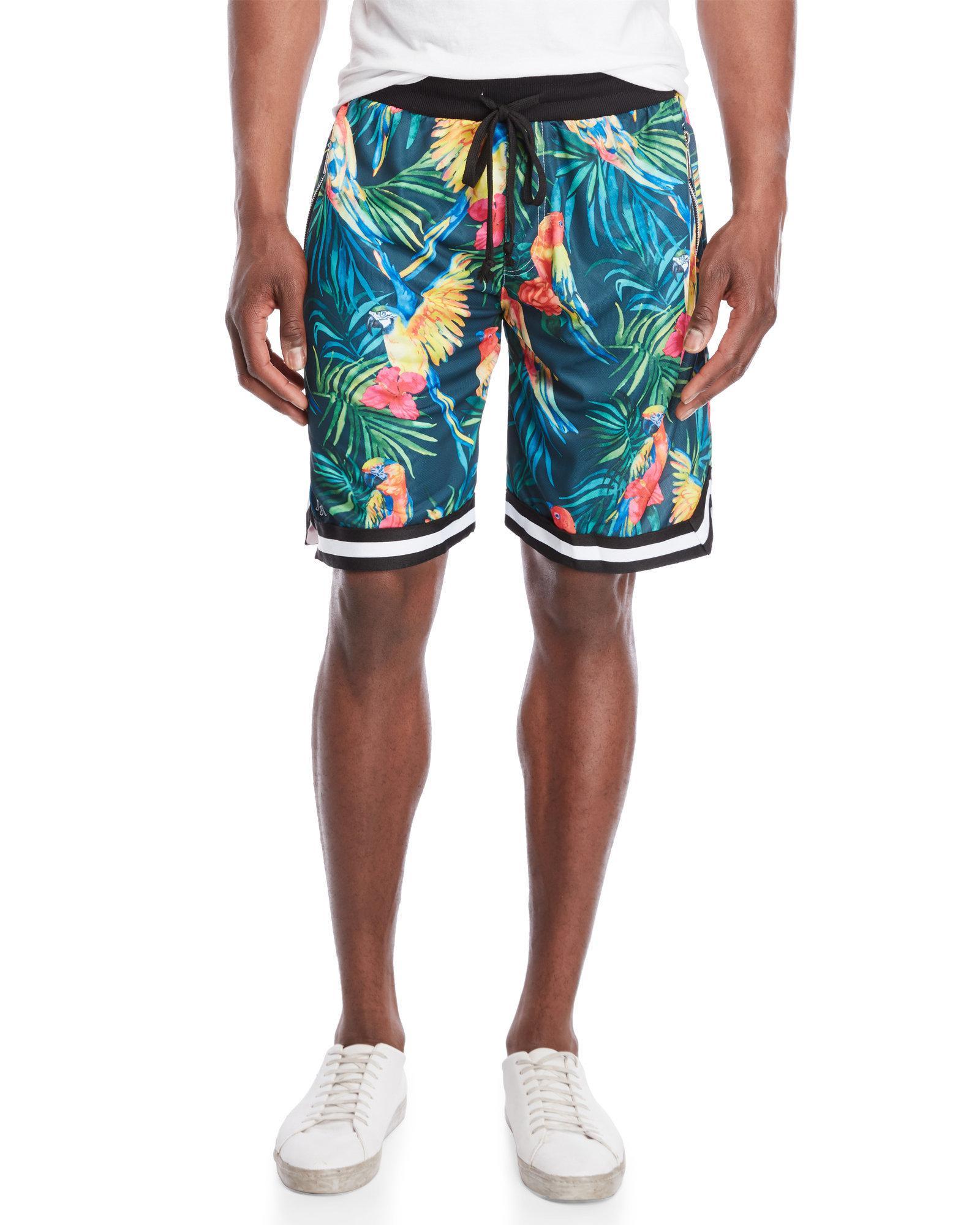 American Stitch. Men's Blue Tropical Drawstring Shorts