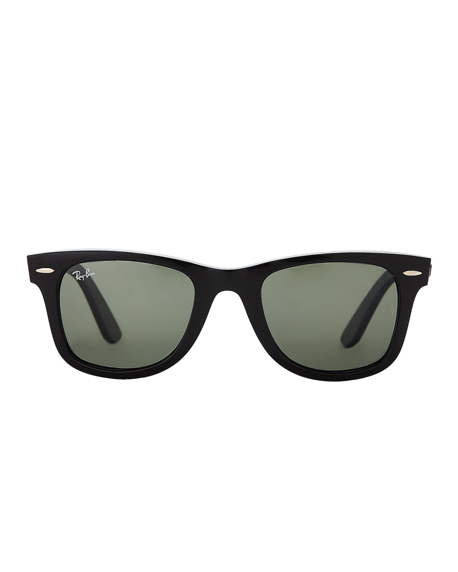 9beffe1eb3 Lyst - Ray-Ban Rb4340 Black Polarized Wayfarer Sunglasses in Black