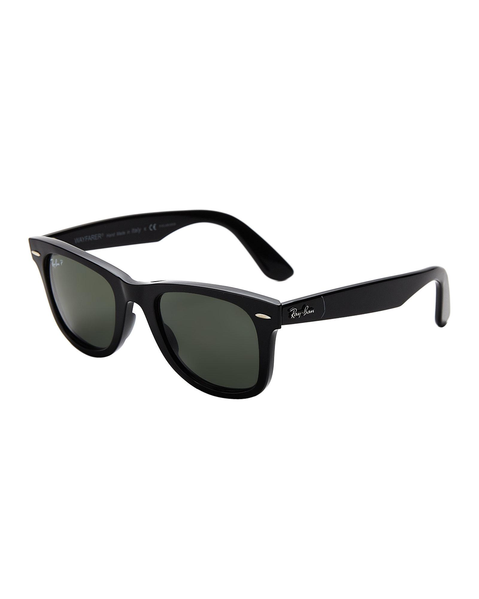 cb1479b28d1 Lyst - Ray-Ban Rb4340 Black Polarized Wayfarer Sunglasses in Black