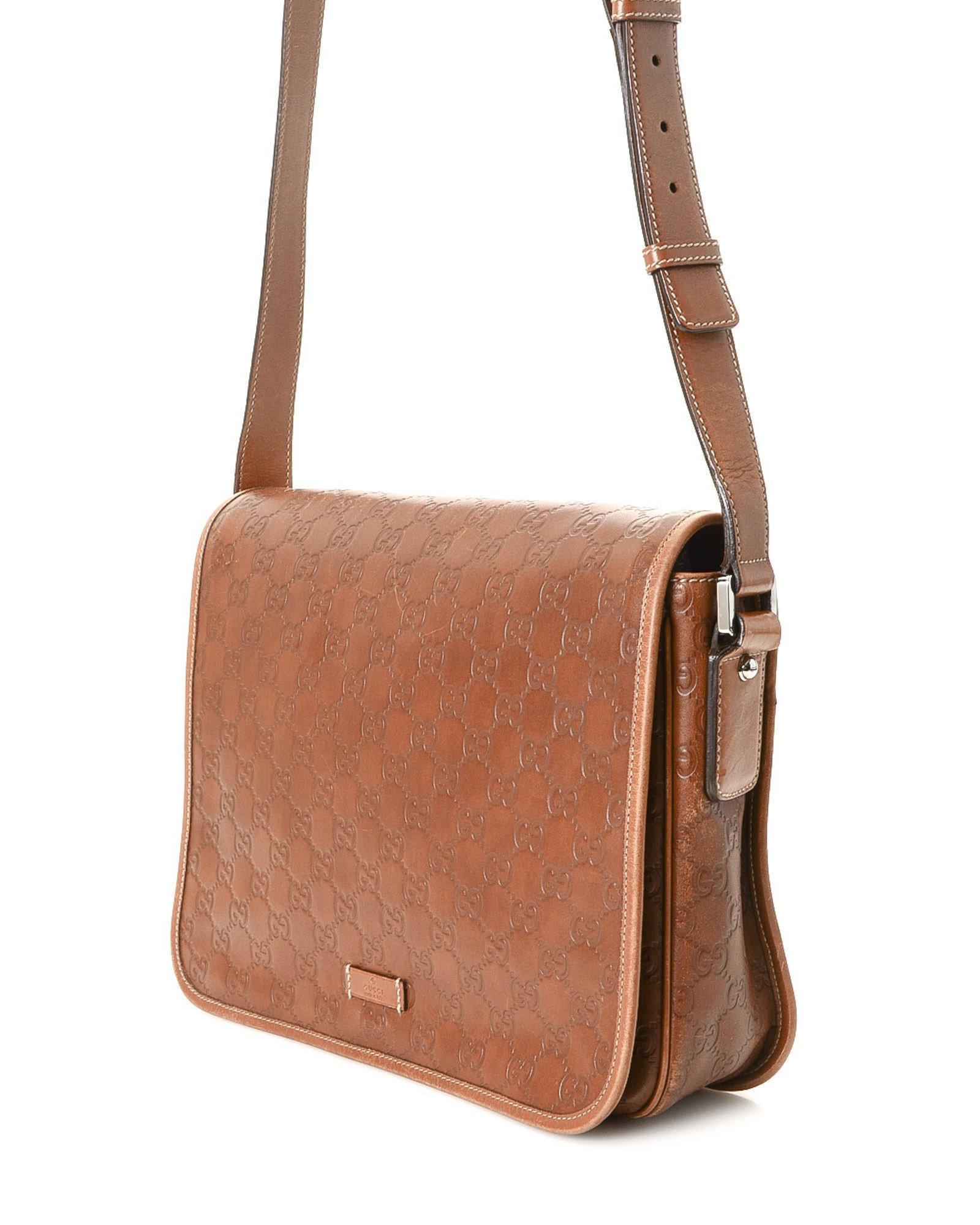1472e8ef73 Lyst - Gucci Ssima Shoulder Bag - Vintage in Brown