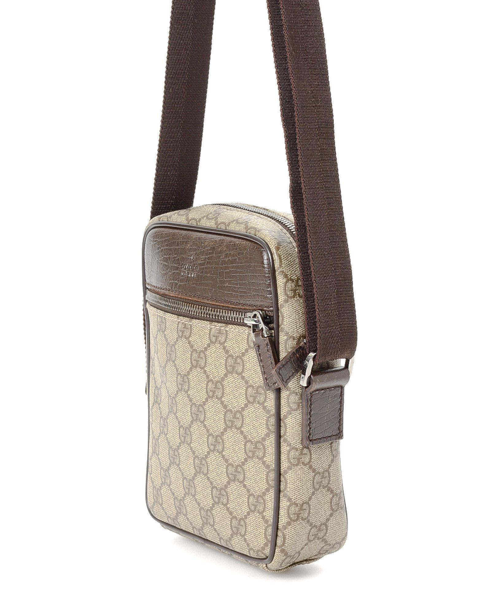 37f3d4efae6e8 Lyst - Gucci Gg Supreme Crossbody - Vintage in Natural
