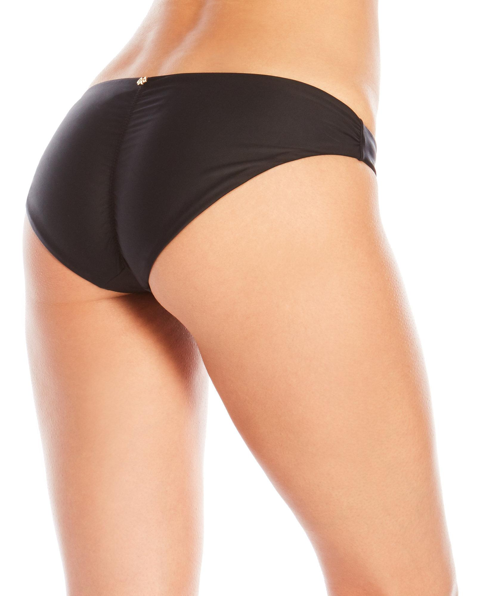 47b37a2213488 Lyst - Pilyq Basic Ruched Bikini Bottom in Black