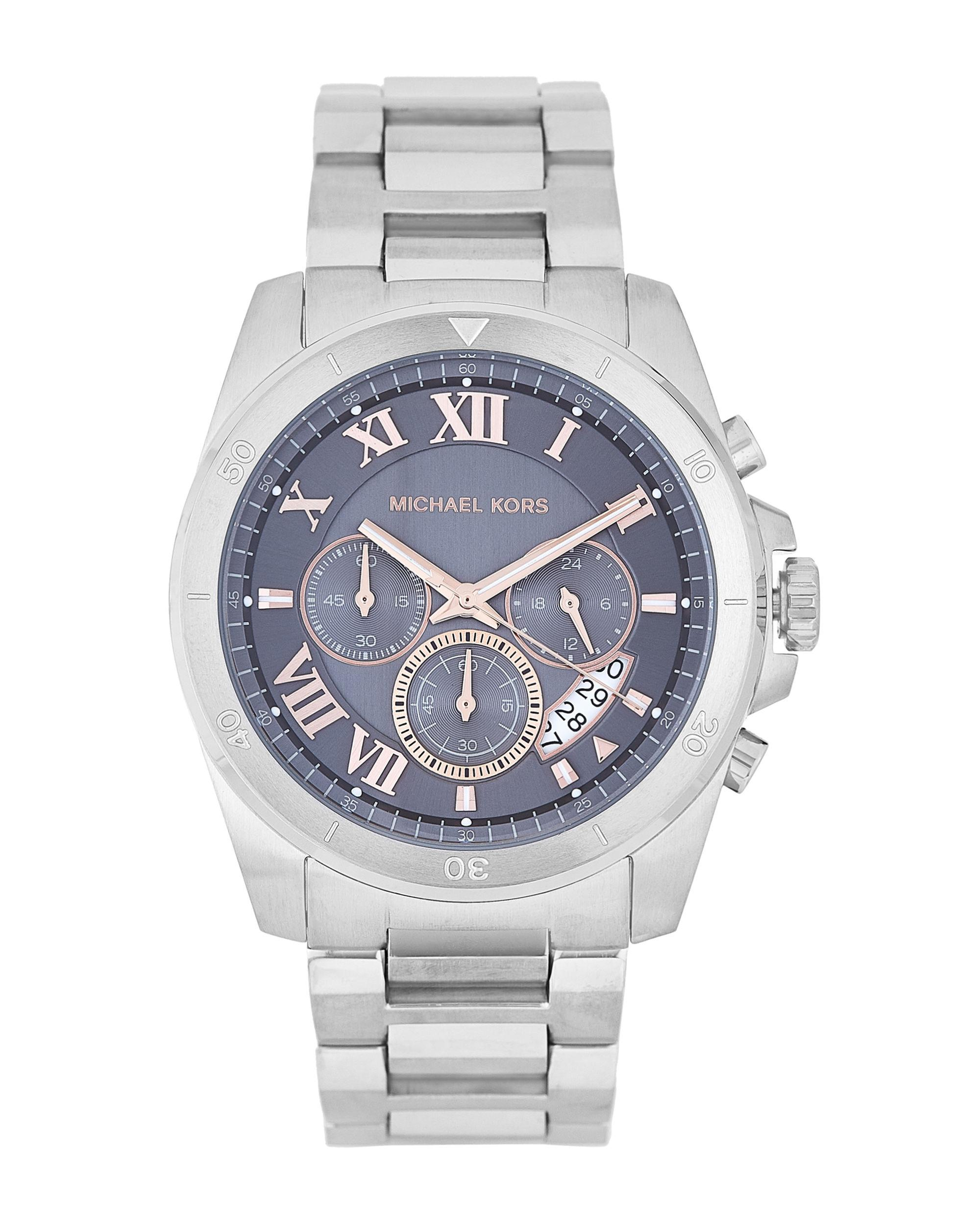 6b553dcb3119 Lyst - Michael Kors Mk8609 Grey   Silver-tone Brecken Watch in ...