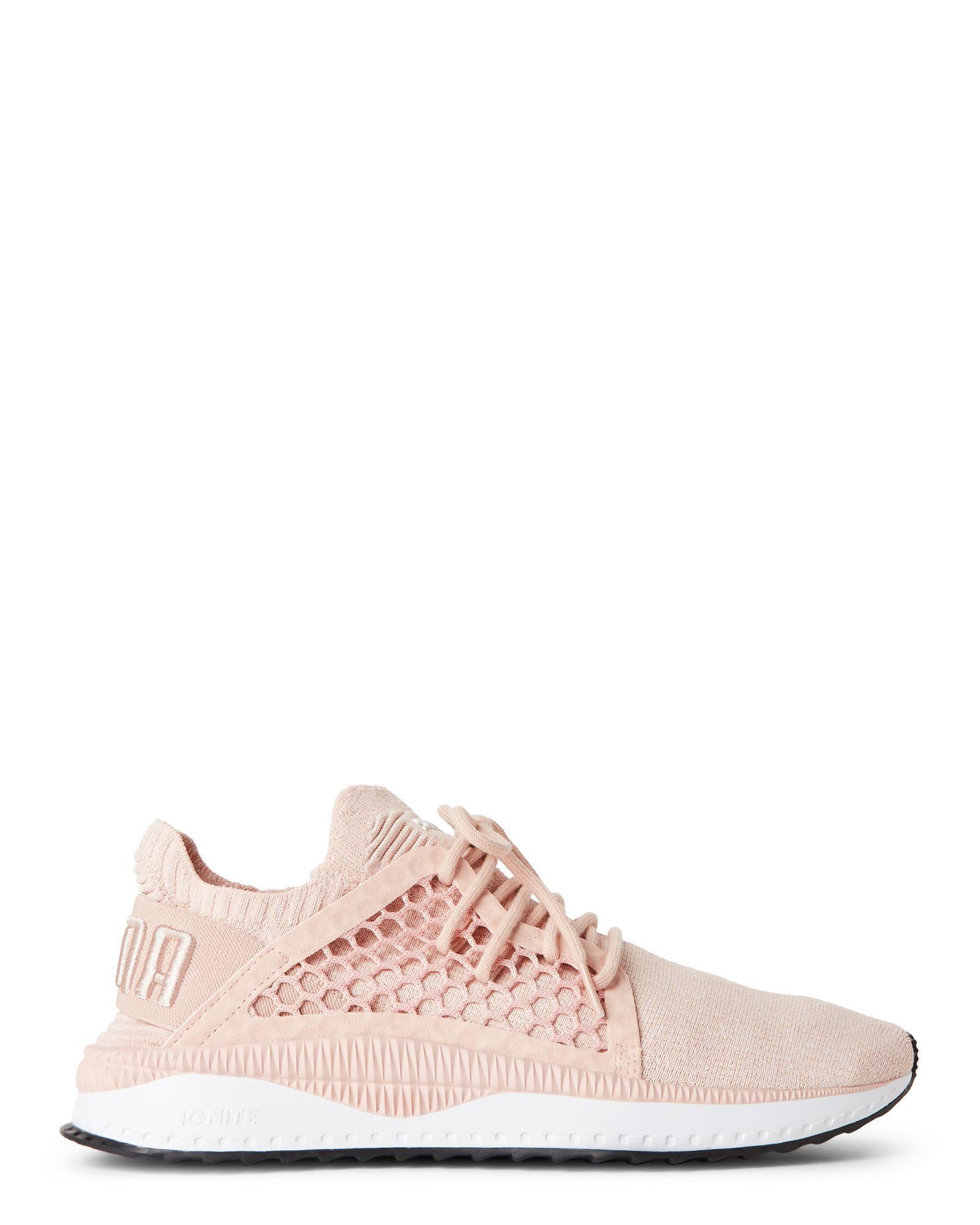 35bd22d1e9042f Lyst - PUMA Cameo Rose   White Tsugi Netfit Evoknit Sneakers in Pink