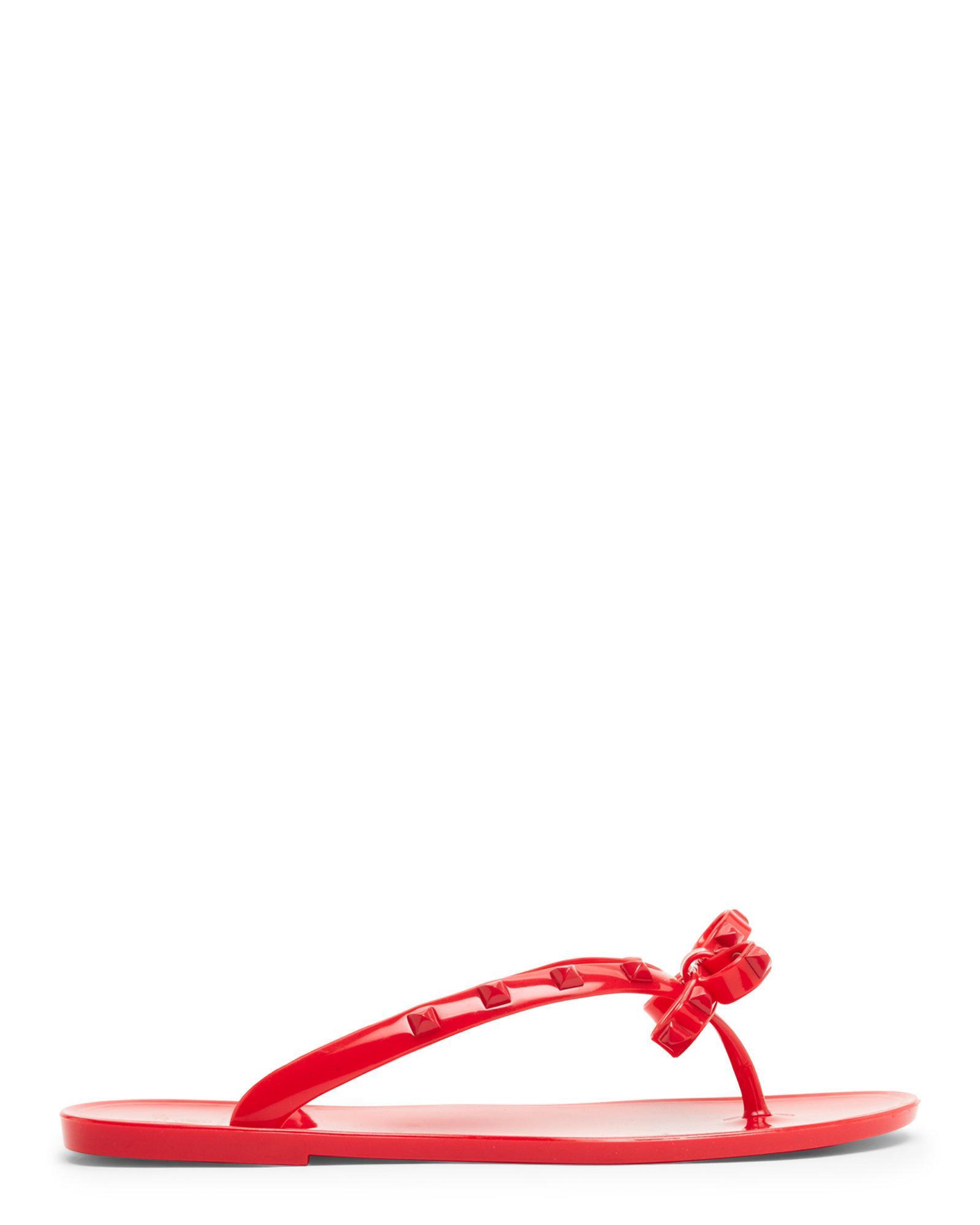 78576eaf2 Lyst - Dizzy Studded Jelly Flip-Flops in Red