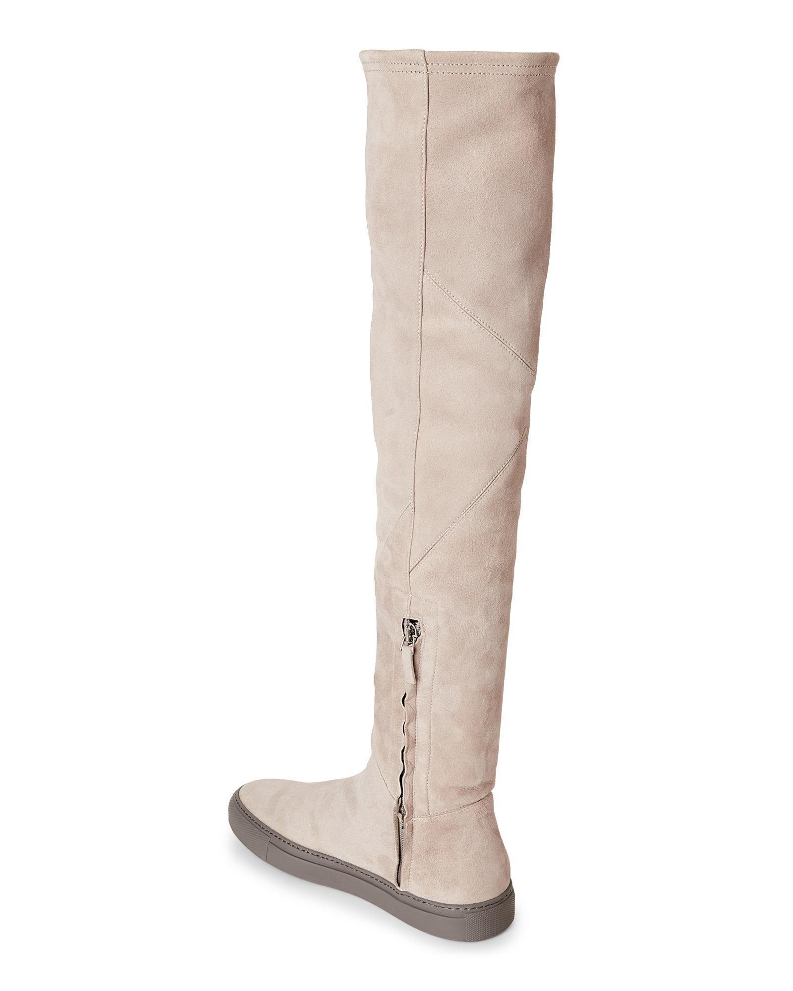 Suede Lyst The Grey Knee In Boots Over Francesca Filippi Fabiana Gray waxwR0g6