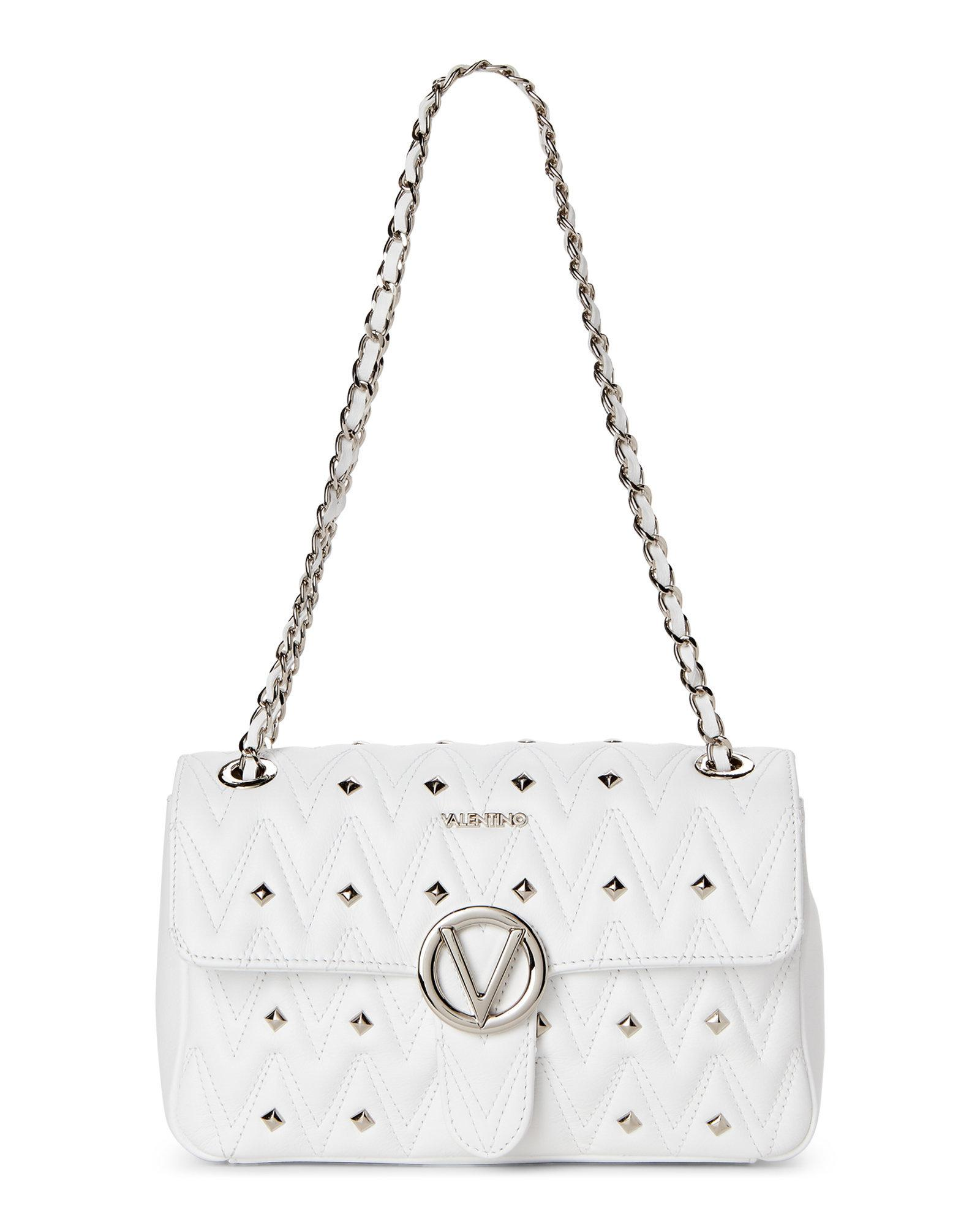 69ce676c5ac0 Lyst - Valentino By Mario Valentino White Antoinette Studded Chain ...