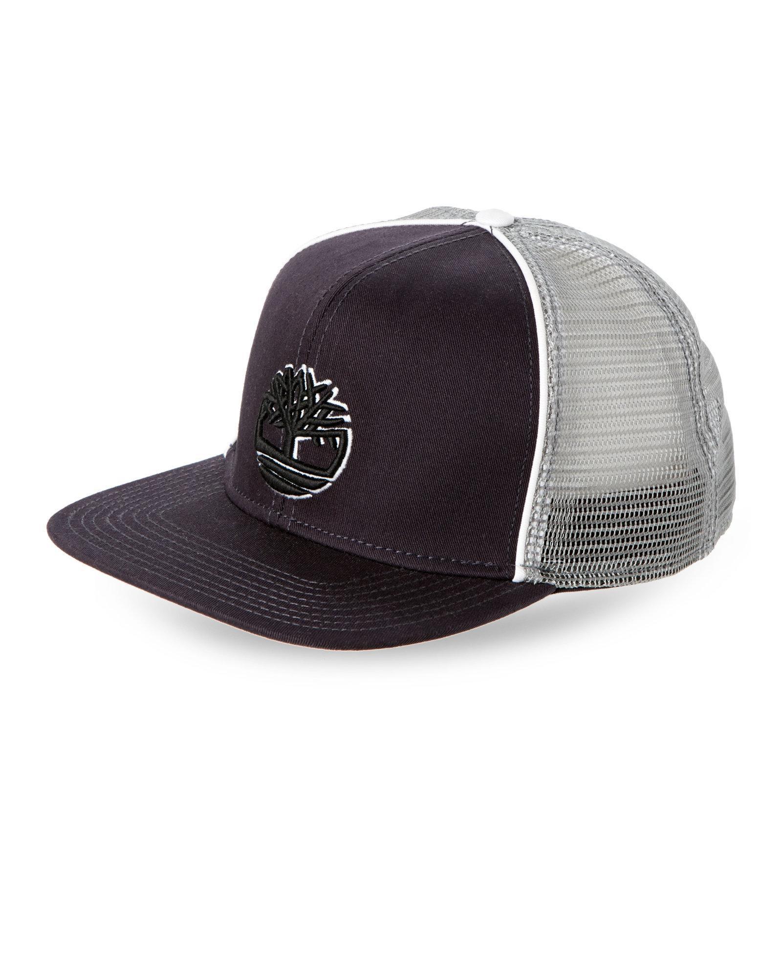 20ed463f Timberland Navy Logo Trucker Hat in Blue for Men - Lyst
