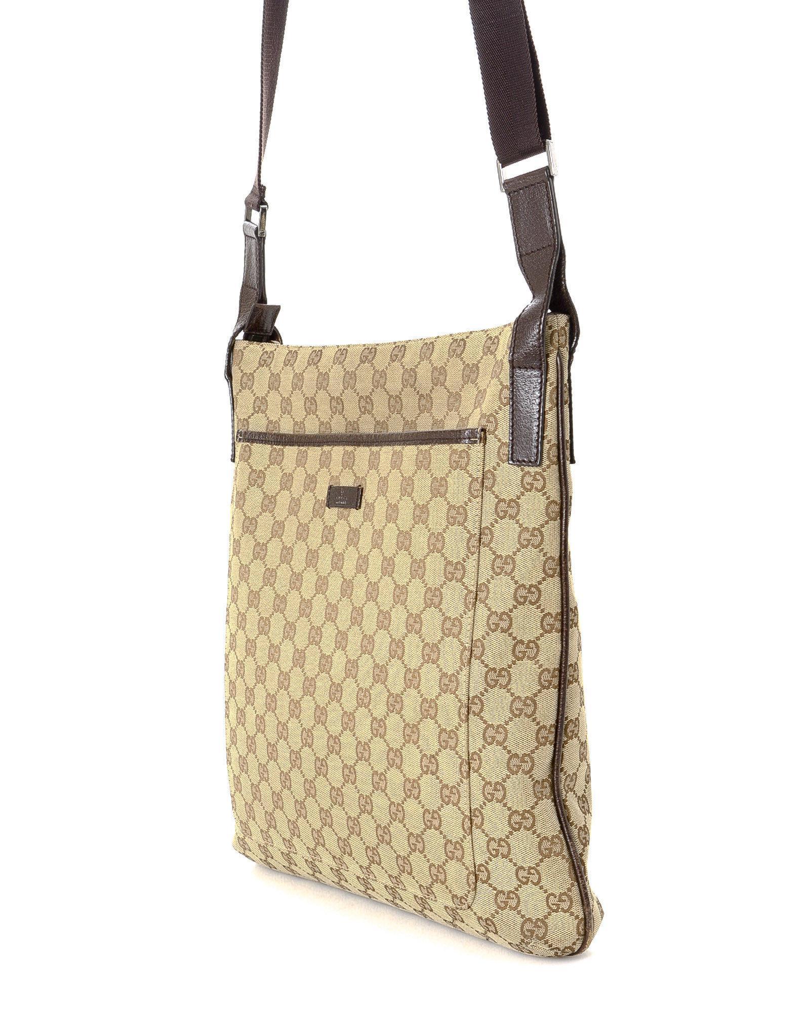 89d8ccb83e Lyst - Gucci Crossbody Bag - Vintage in Natural