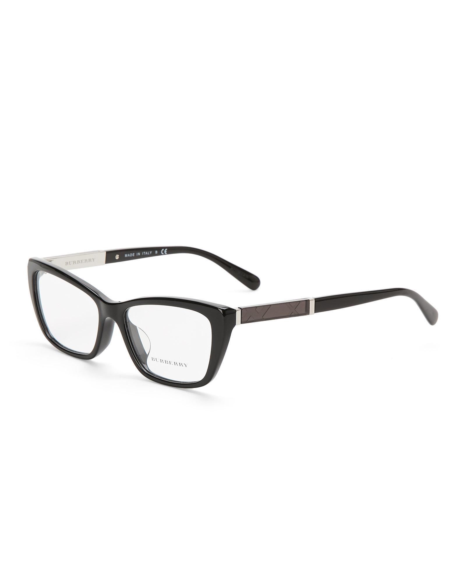 Lyst - Burberry Be2236 Black Angular Cat Eye Optical Frames in Black