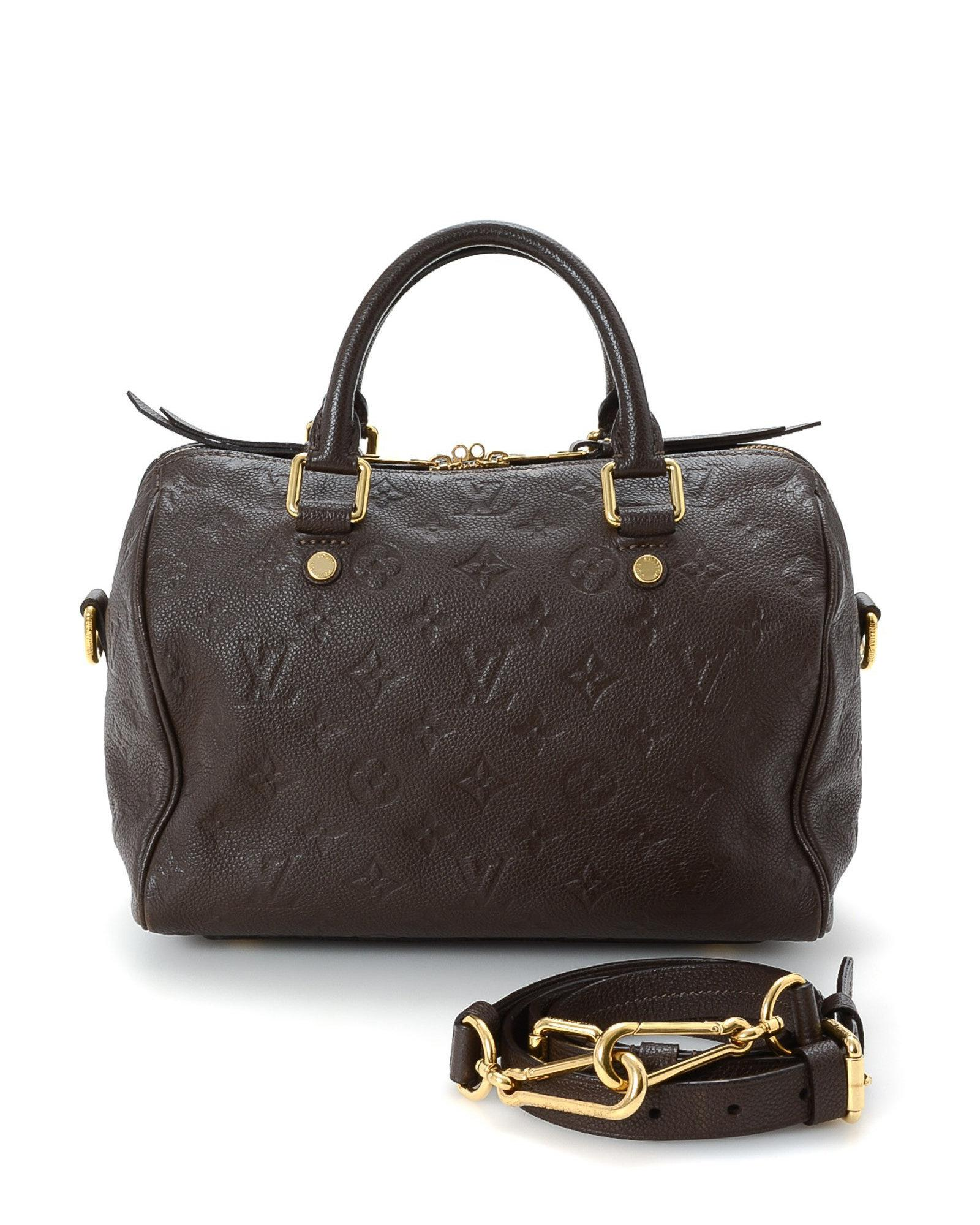 Lyst Louis Vuitton Empreinte Speedy 25 Handbag Vintage In Brown