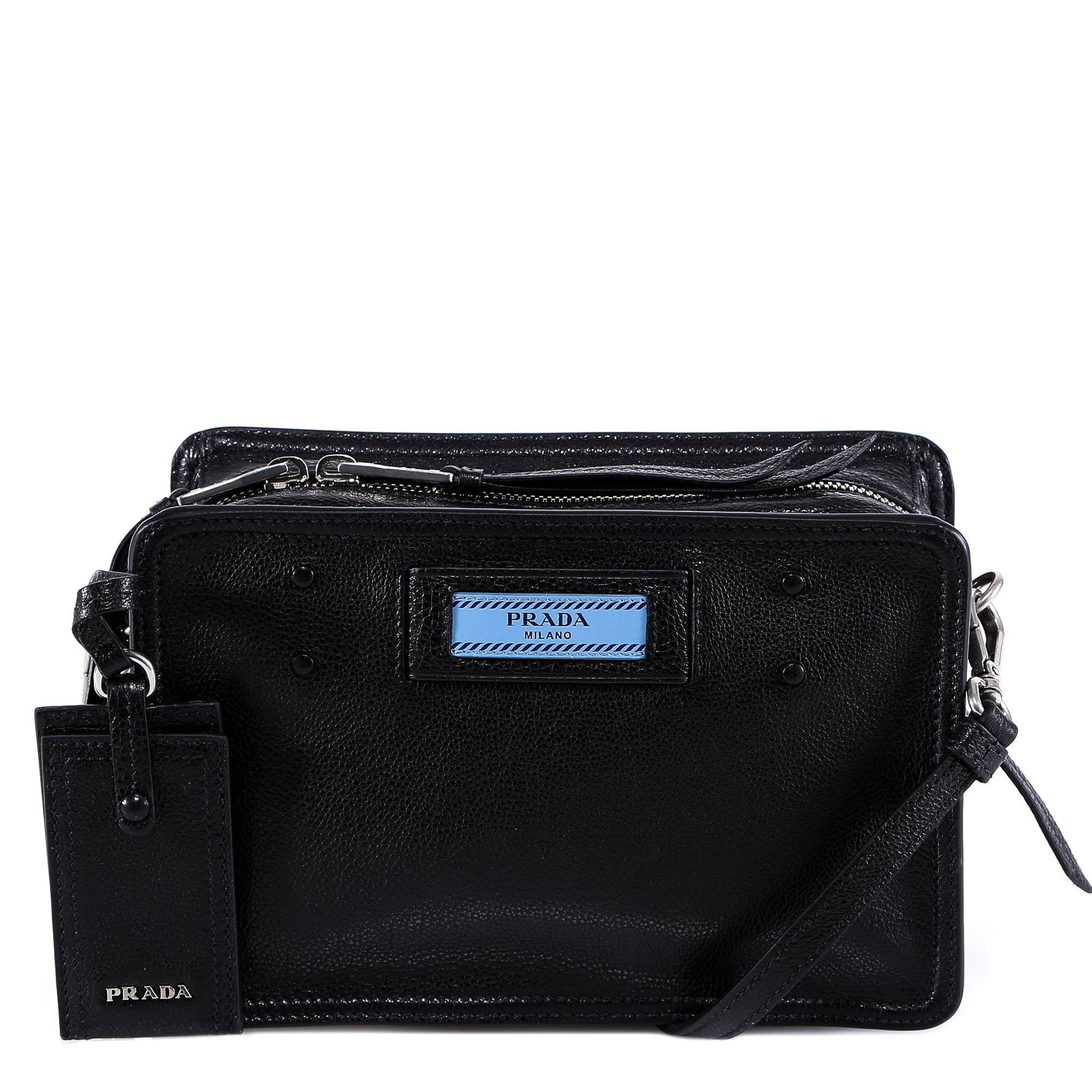 55c7466f6a6b Prada - Black Logo Shoulder Bag - Lyst. View fullscreen