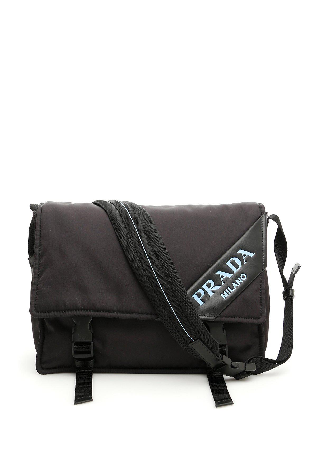 63fb16e9bdd1e6 Lyst - Prada Logo Crossbody Bag in Black
