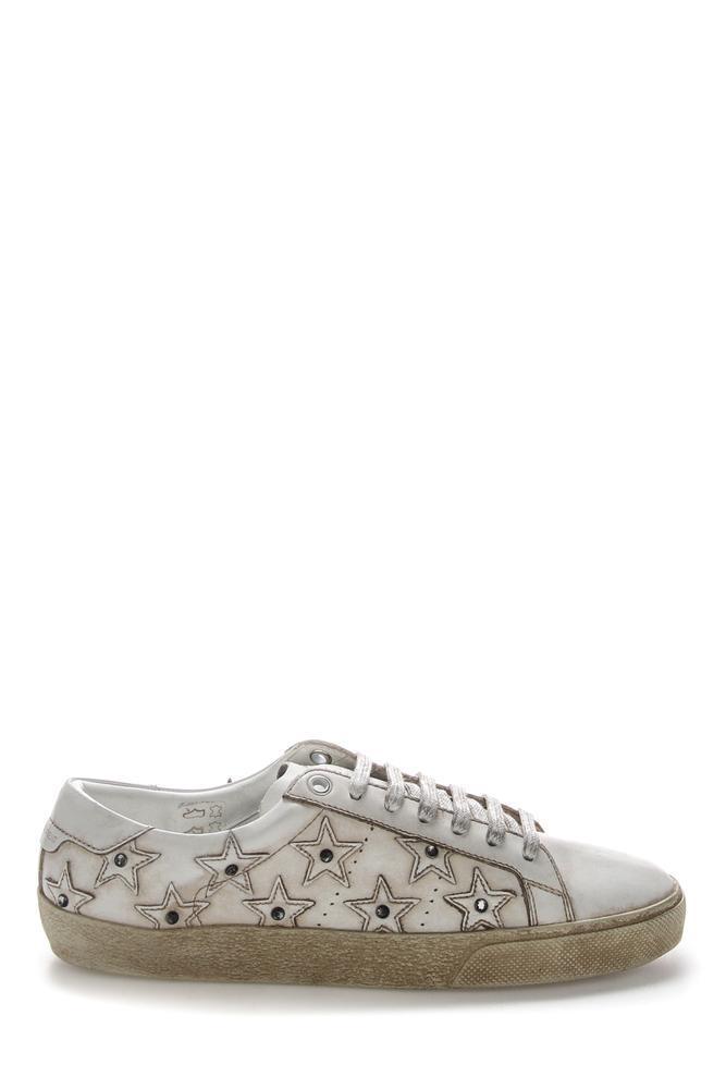 89263187d9e Saint Laurent Sl/06 California Sneakers in White - Lyst