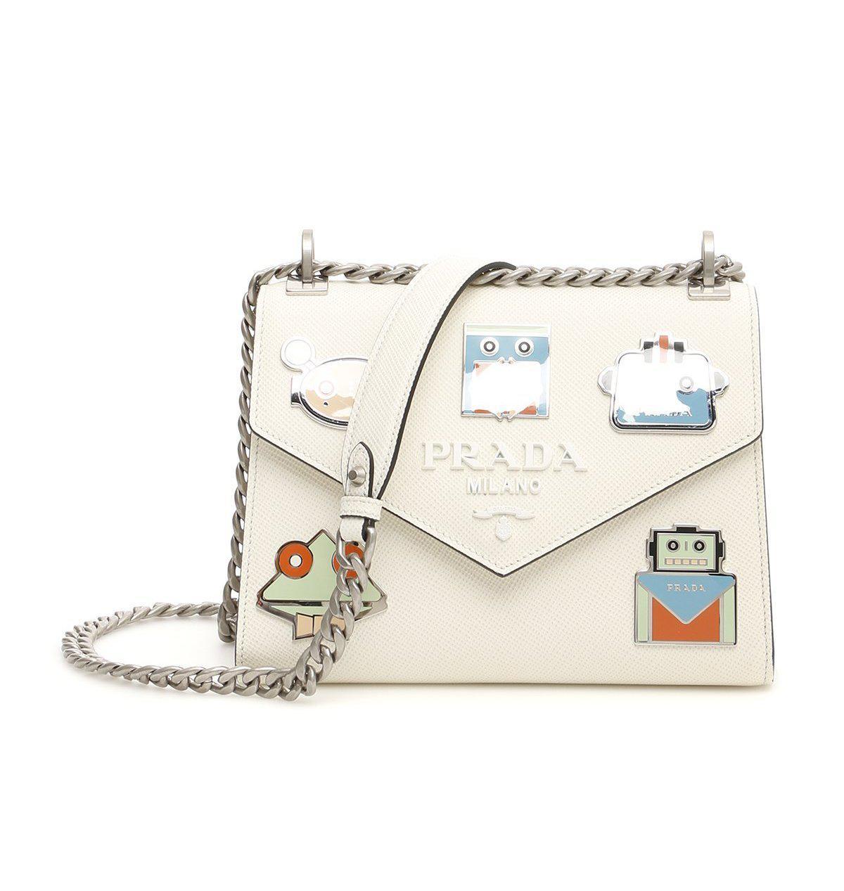 68936ca56563ec Prada Monochrome Logo Shoulder Bag in White - Save 3.417721518987335 ...