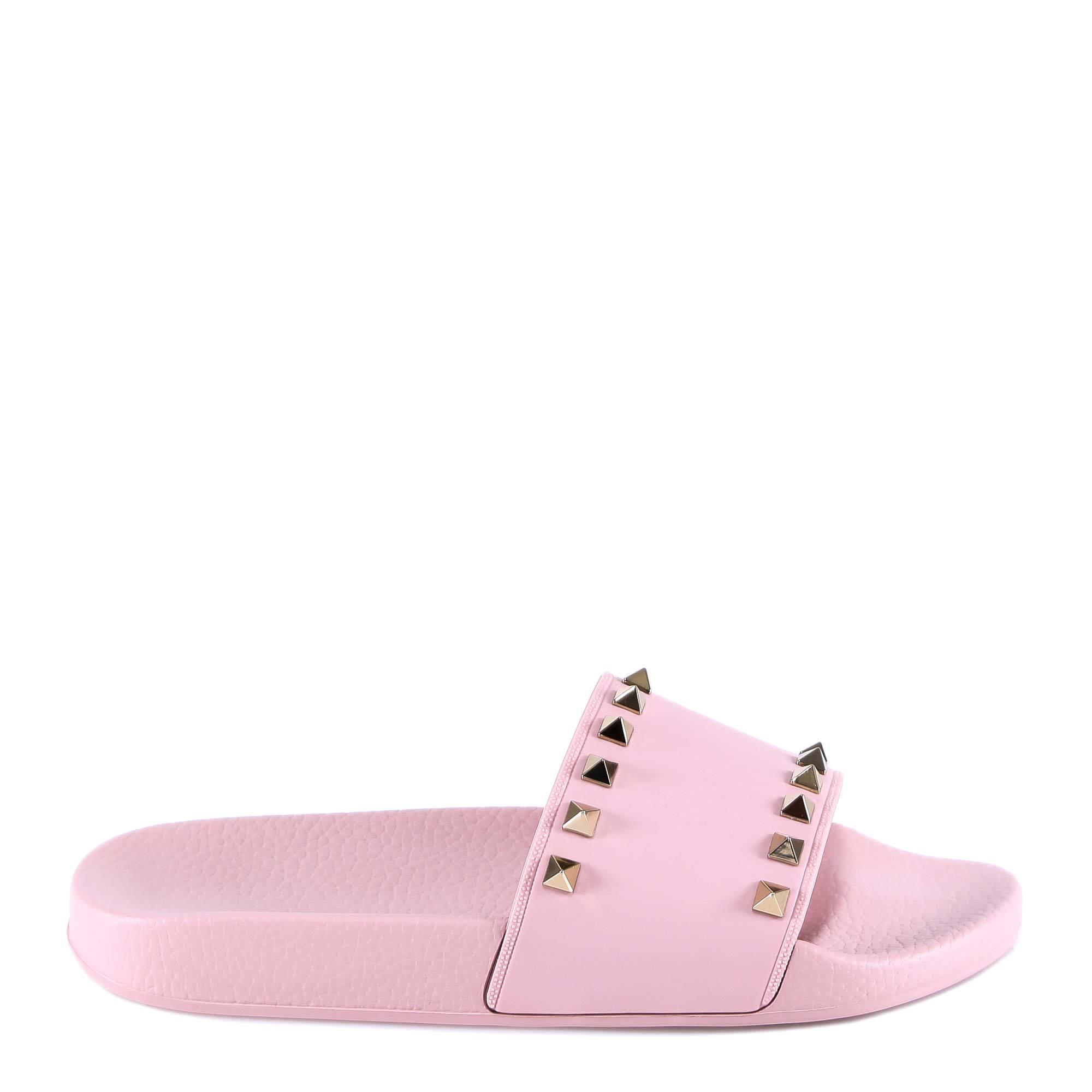 cd157dde99fe Valentino Rockstud Rubber Slides - Save 53% - Lyst