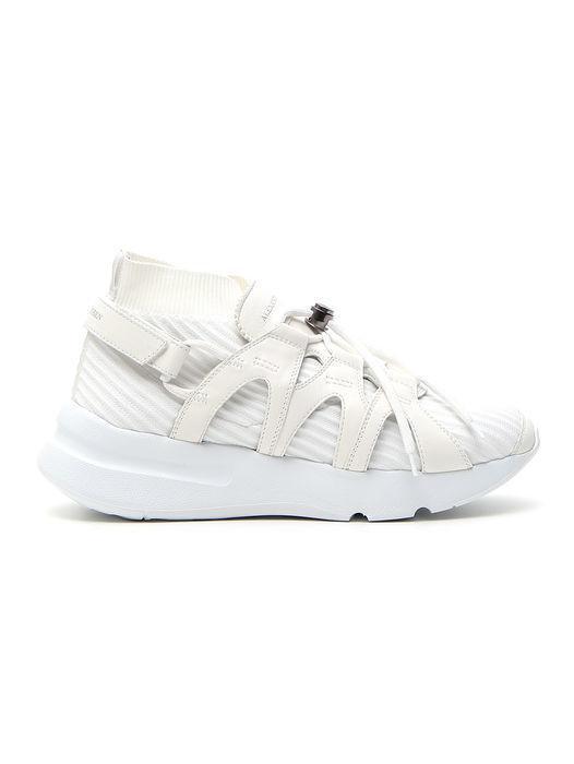 195f30abf261 Alexander Mcqueen Chunky Sole Sock Sneakers in White - Lyst
