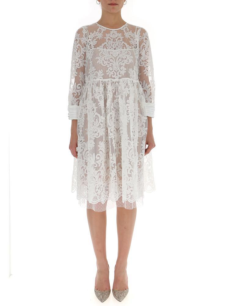 Lyst - N°21 Lace Skater Dress in White 0631308f2