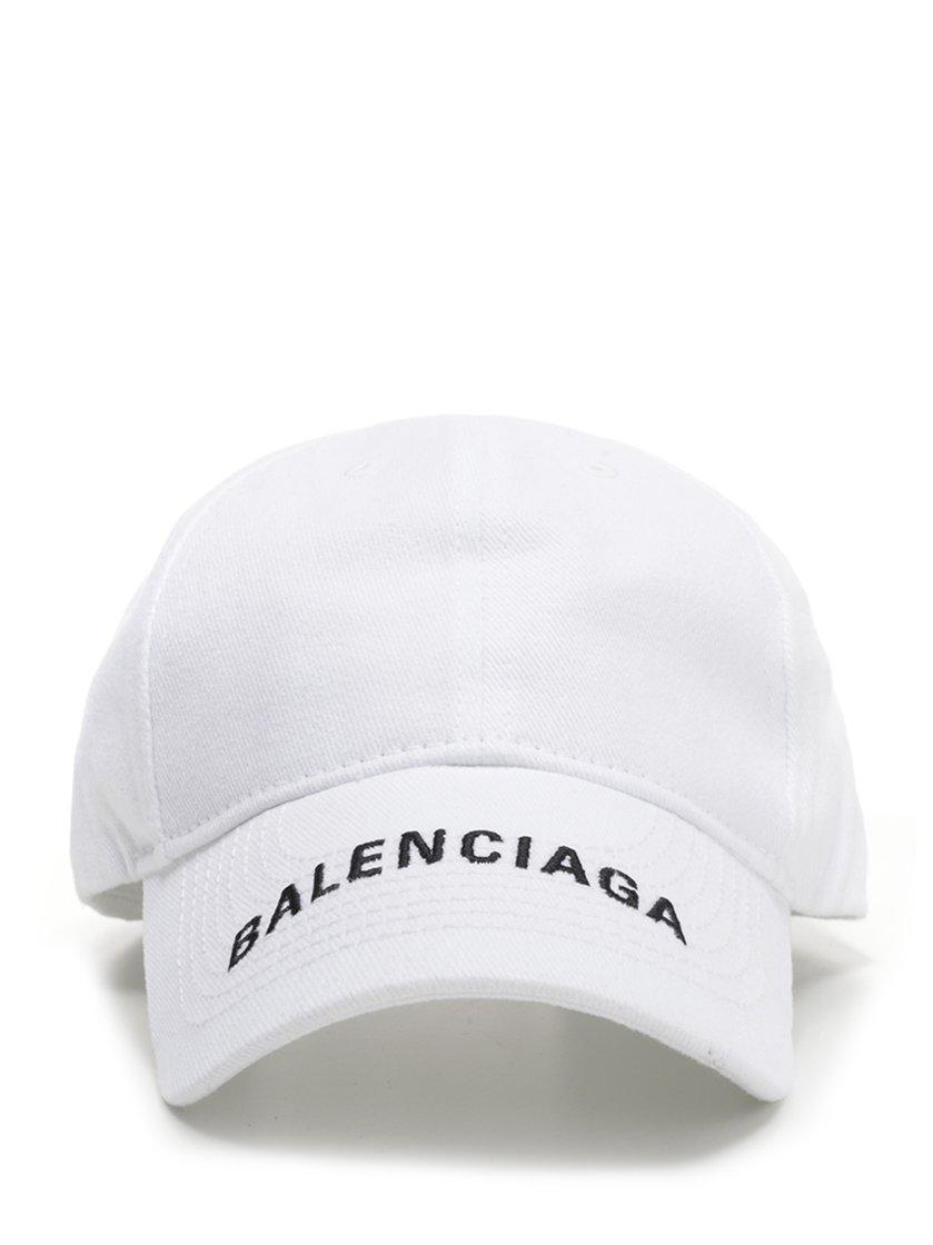 cc6e4350e2f Lyst - Balenciaga Logo Print Baseball Cap in White for Men
