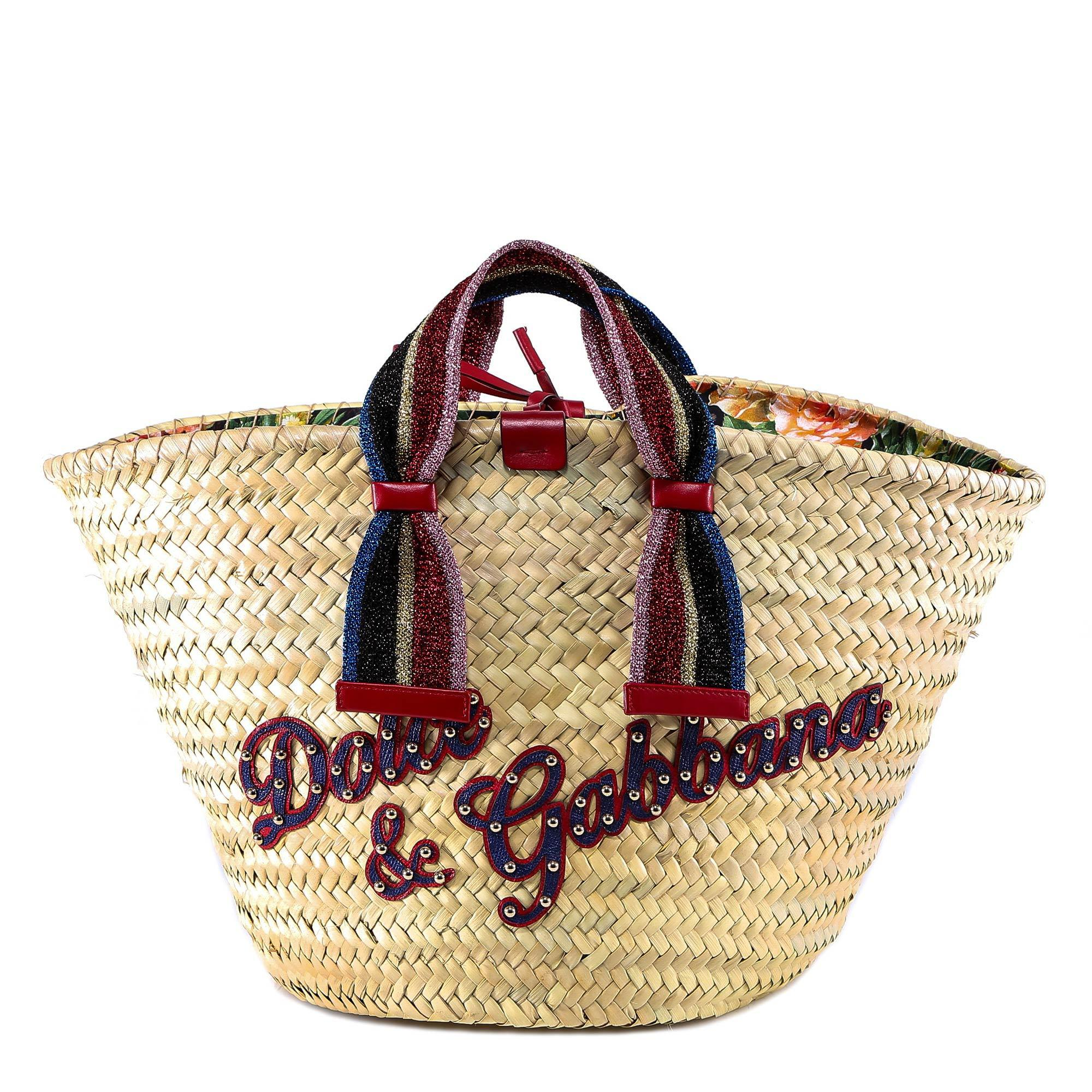 d302799c322c Lyst - Dolce   Gabbana Logo Straw Tote Bag - Save 25%