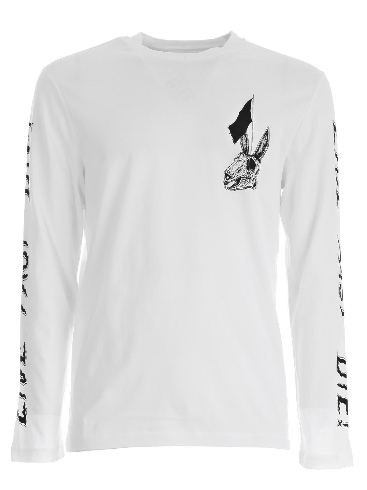 68040cd3 Lyst - McQ Bunny Long Sleeve Shirt in White for Men