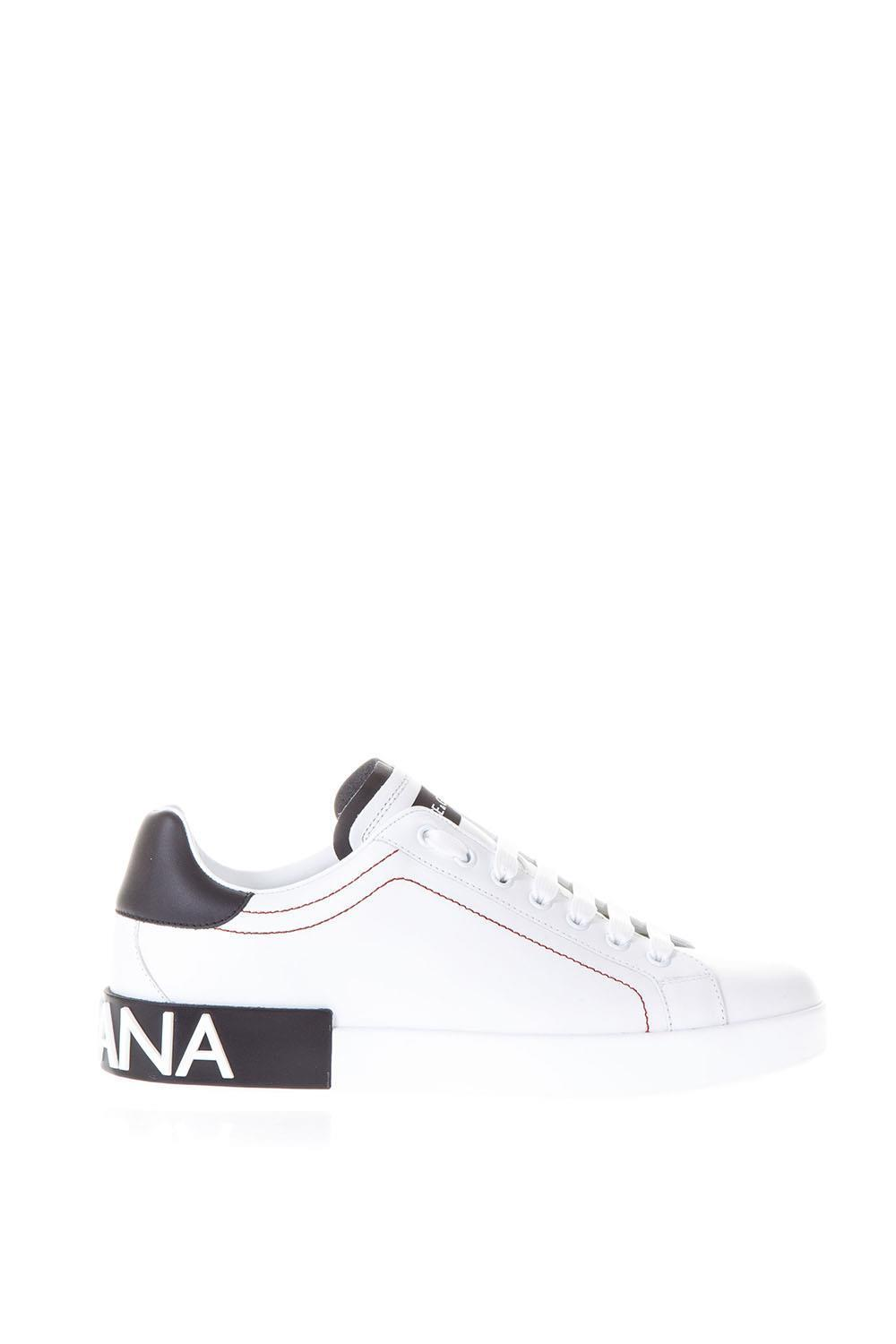 b5077f49c9 Lyst - Dolce & Gabbana Portofino Lace-up Sneakers in White for Men