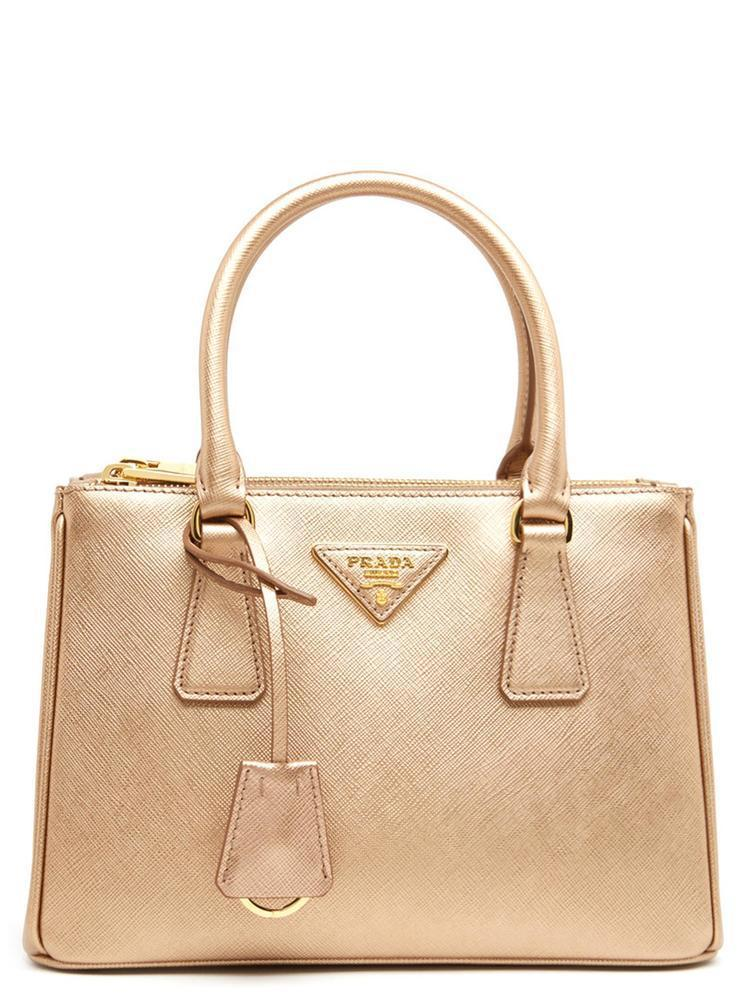 5fe6a1523d Prada Small Galleria Tote Bag in Metallic - Lyst