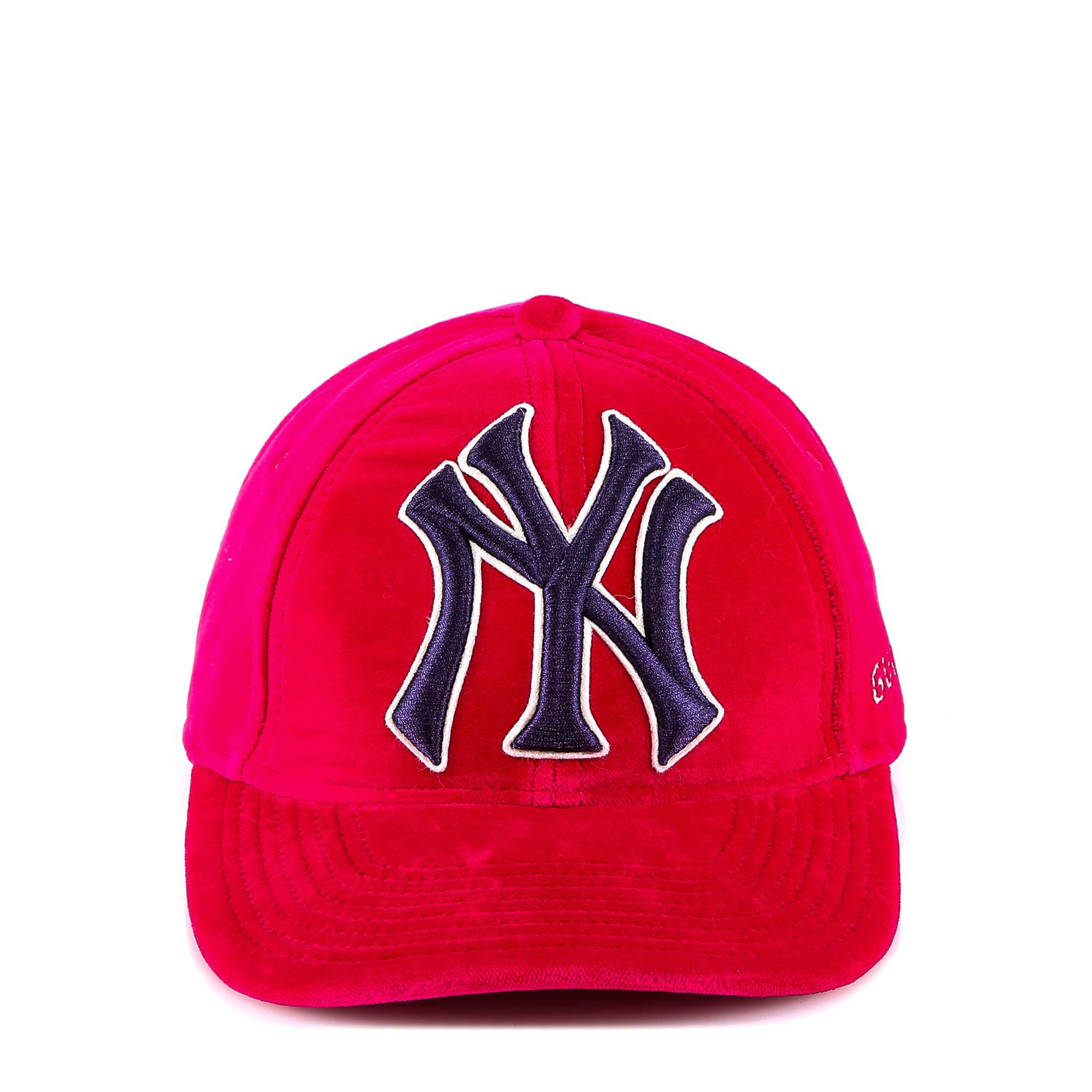 Lyst - Gucci New York Yankees Embroidered Cap in Pink for Men 5981f0b2b66a