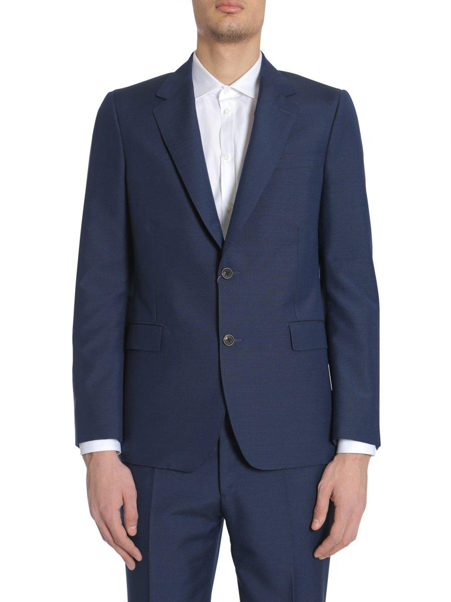 5eb710c2ff31 Alexander McQueen Single Breasted Jacket in Blue for Men - Lyst