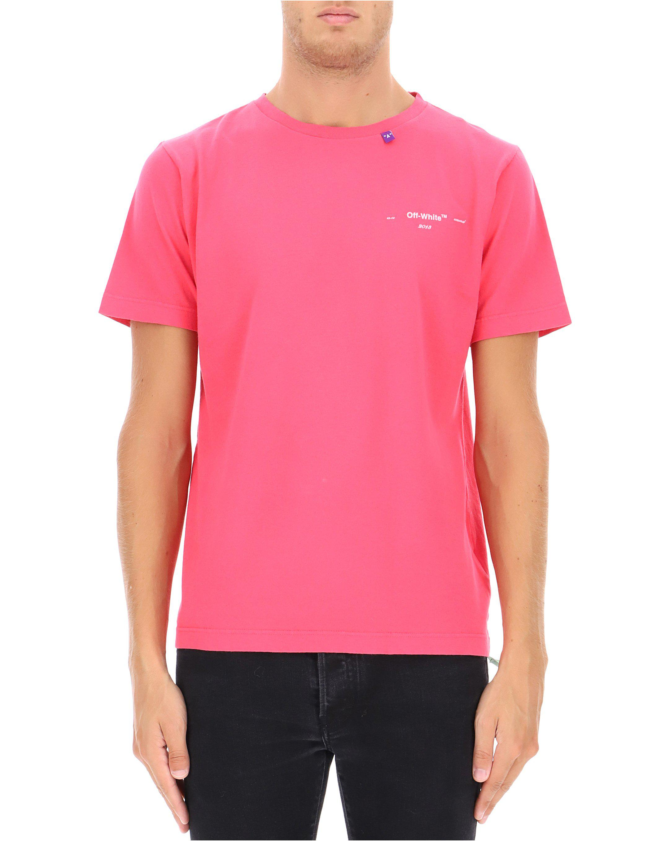 b9d013d2d5d0 Off-White C O Virgil Abloh Logo T-shirt in Pink for Men - Lyst