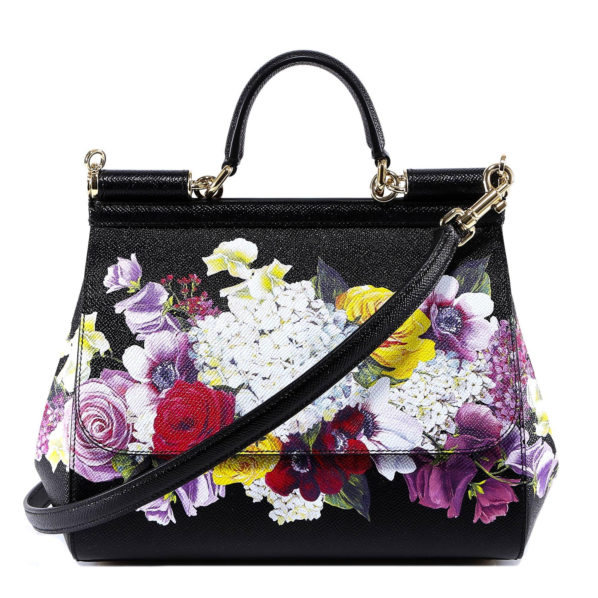 Dolce   Gabbana. Women s Floral Top Handle Tote Bag c6a2e66906bcd