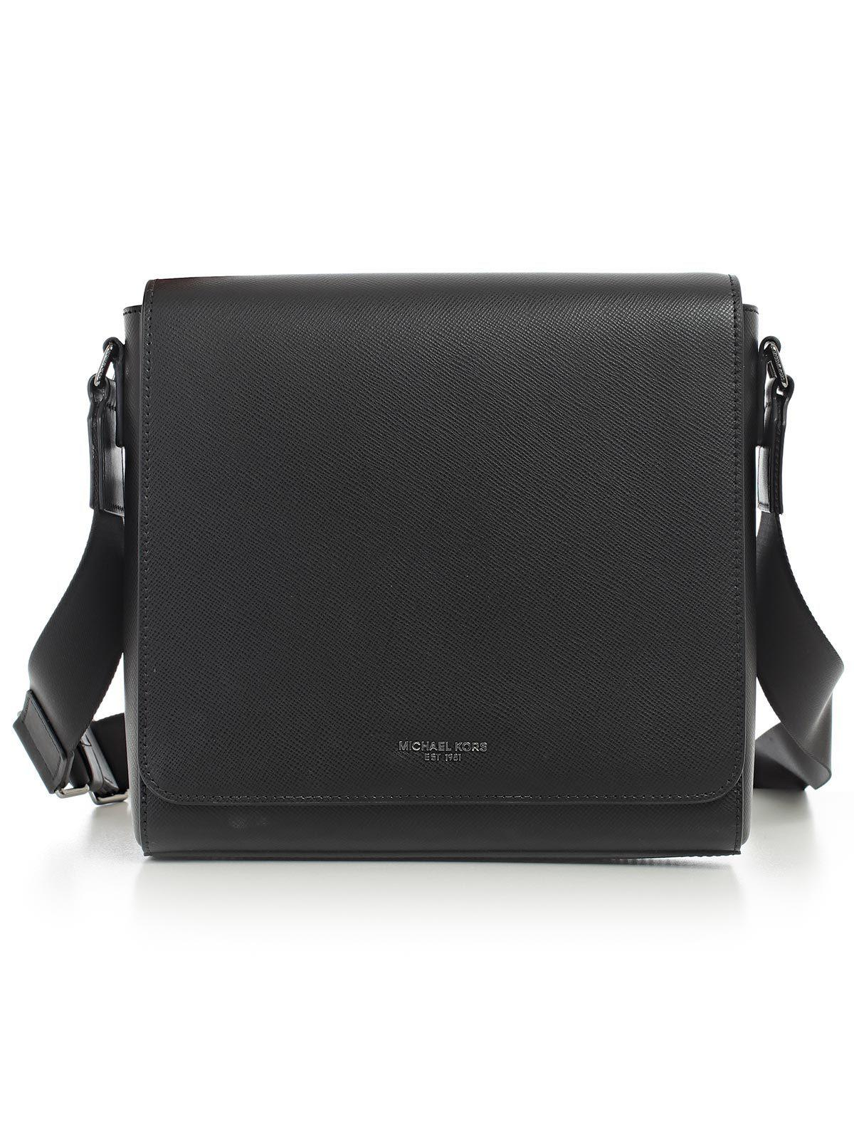 84d27c1a14c9 Lyst - Michael Kors Leather Messenger Bag in Black for Men