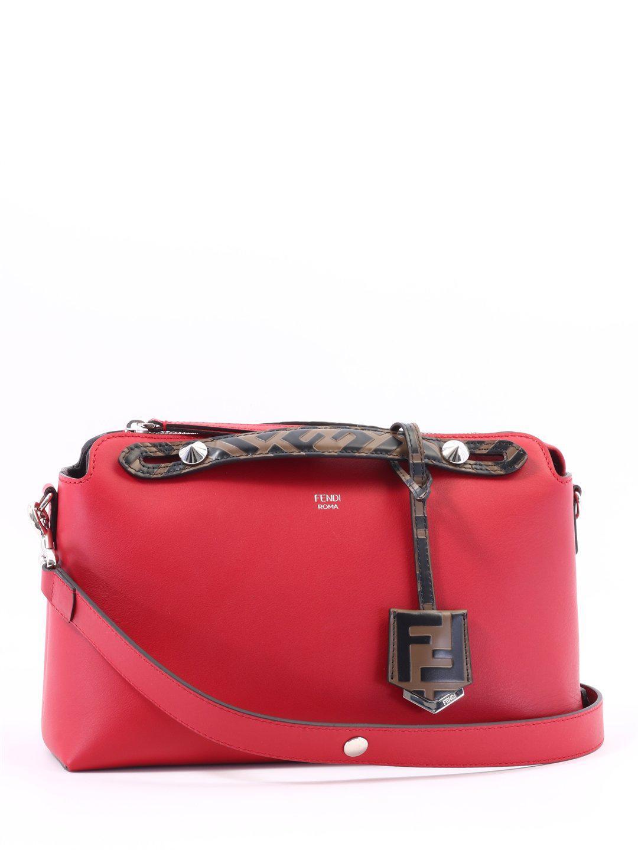 Lyst - Fendi By The Way Medium Bag in Red c9ae283f86945