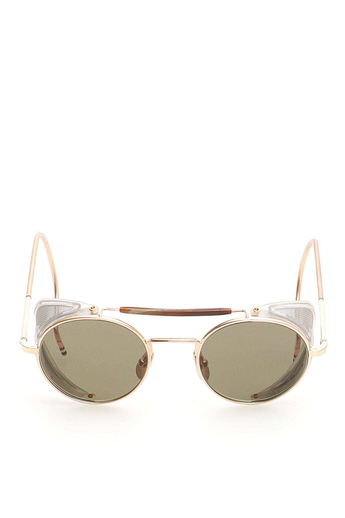 1a969d36692b Thom Browne Round Frame Gold Plated Sunglasses in Metallic - Lyst