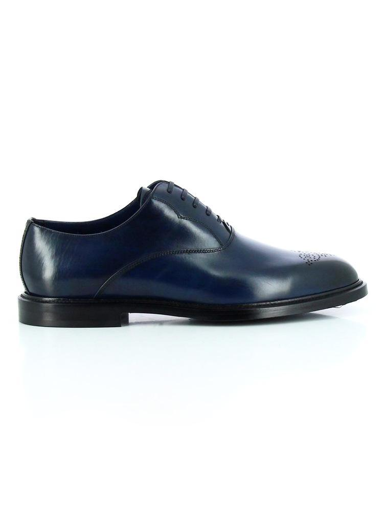 brogue detail Derby shoes - Blue Dolce & Gabbana