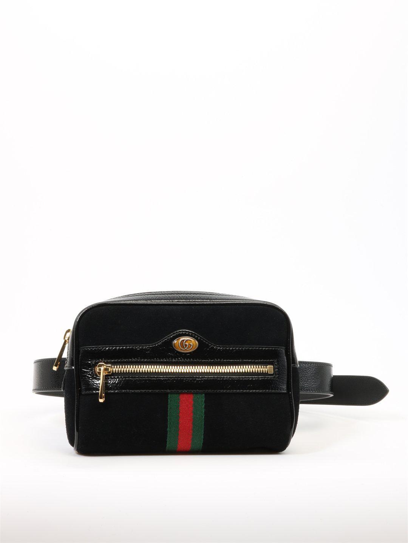 c9f57db0b51 Gucci Ophidia Small Belt Bag in Black - Lyst
