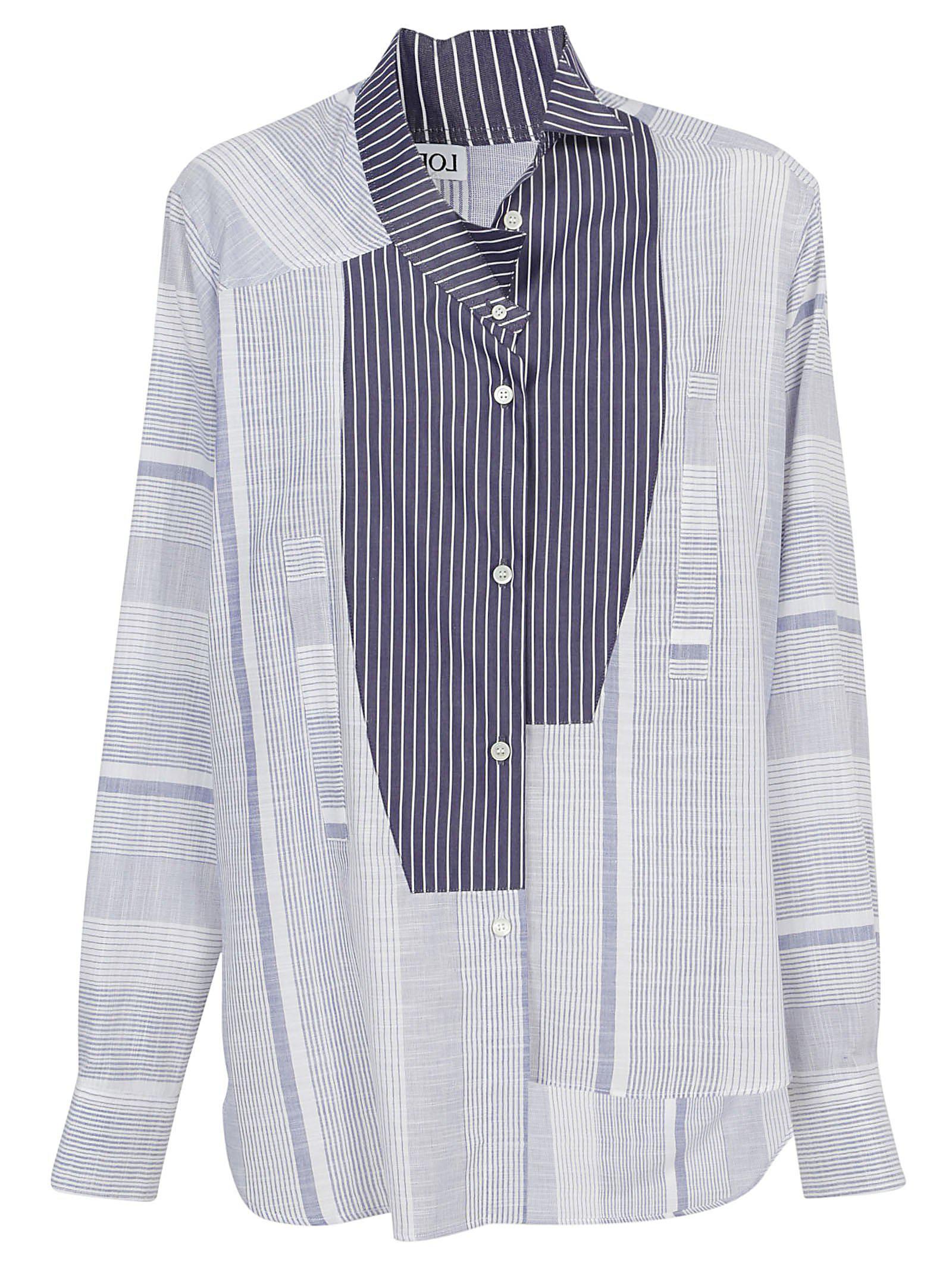 d49343c7 Loewe Contrast Stripe Shirt in Blue for Men - Lyst