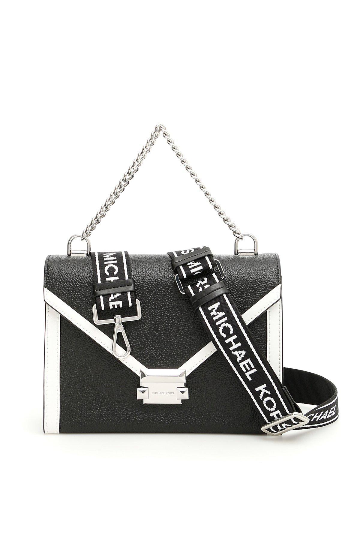 b31dc1125 MICHAEL Michael Kors All Logo Strap Crossbody Bag in Black - Lyst