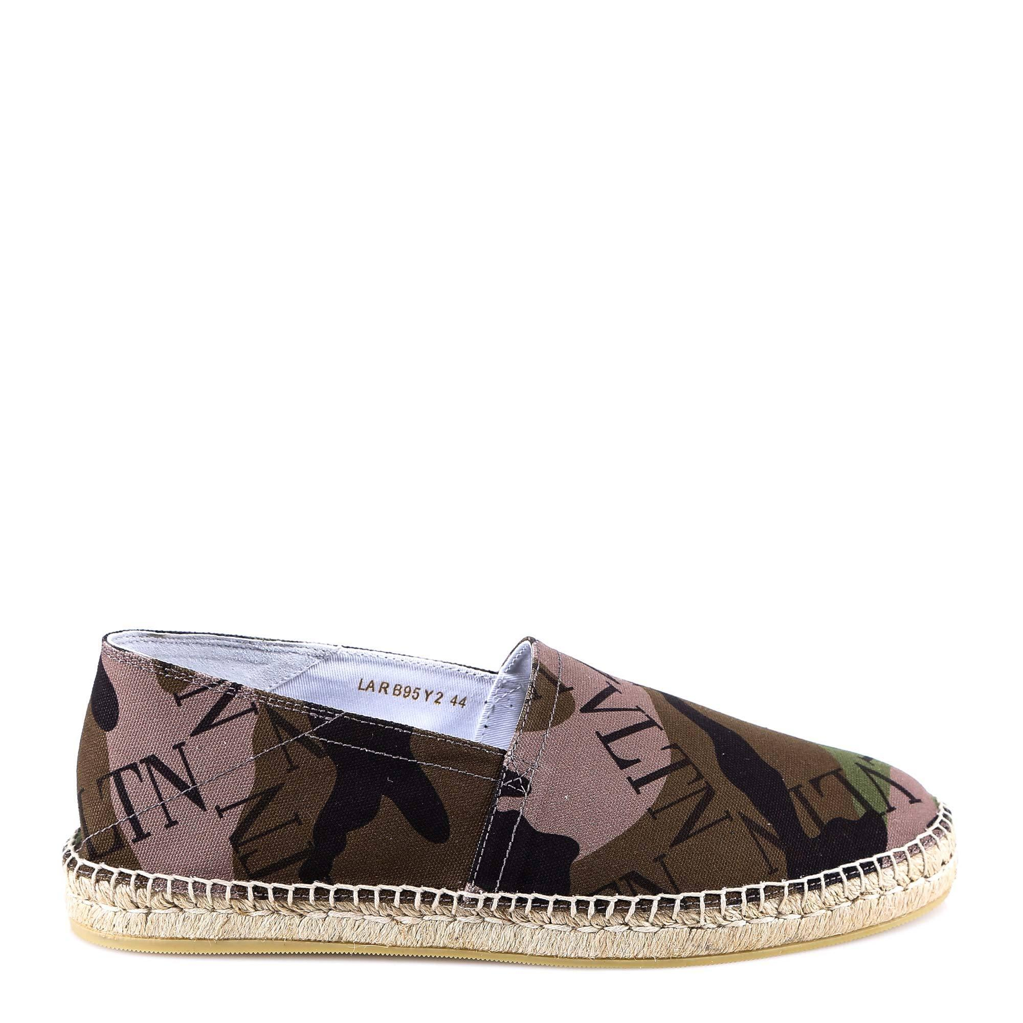 493c19a12d3b2 Valentino Vltn Grid Espadrilles in Brown for Men - Lyst