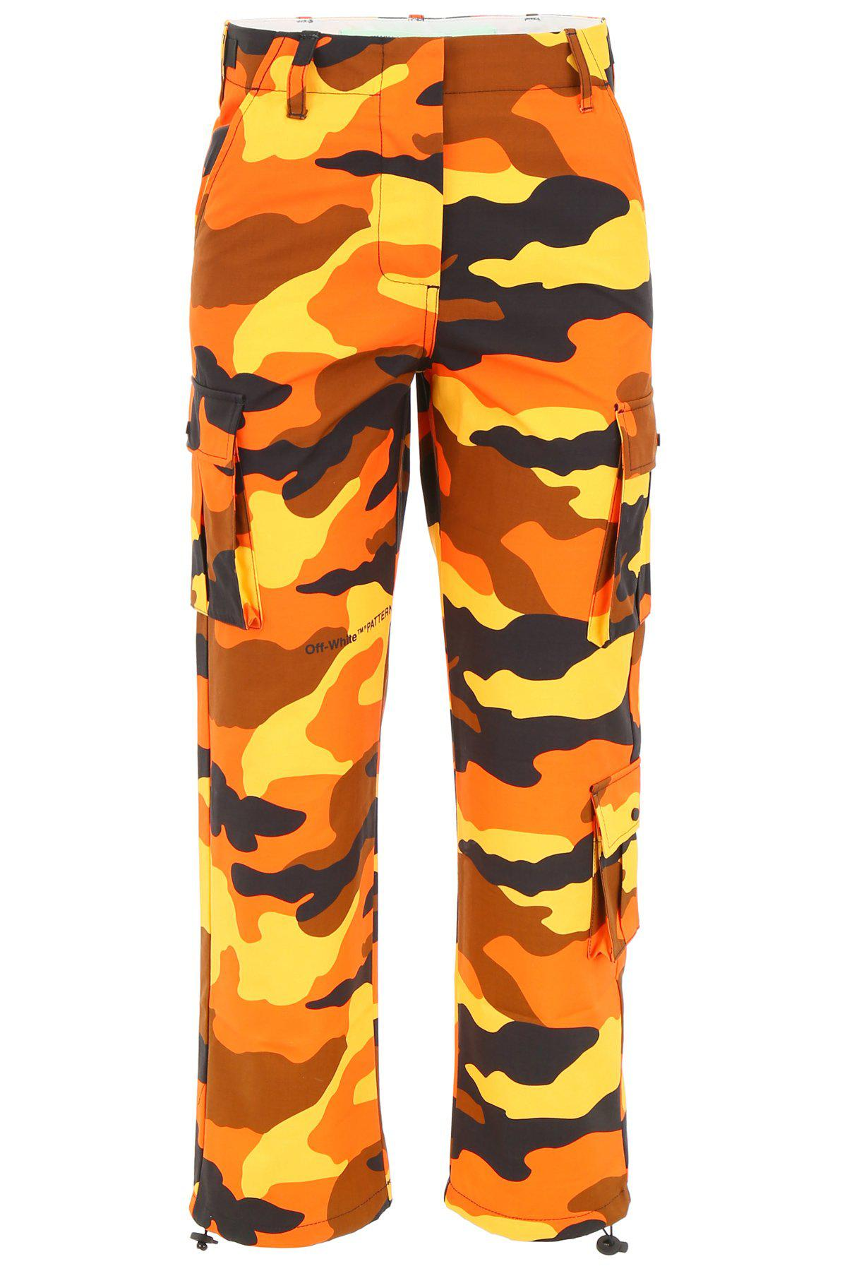 f2cc3a07906c Lyst - Off-White c o Virgil Abloh Camouflage Trousers in Orange ...