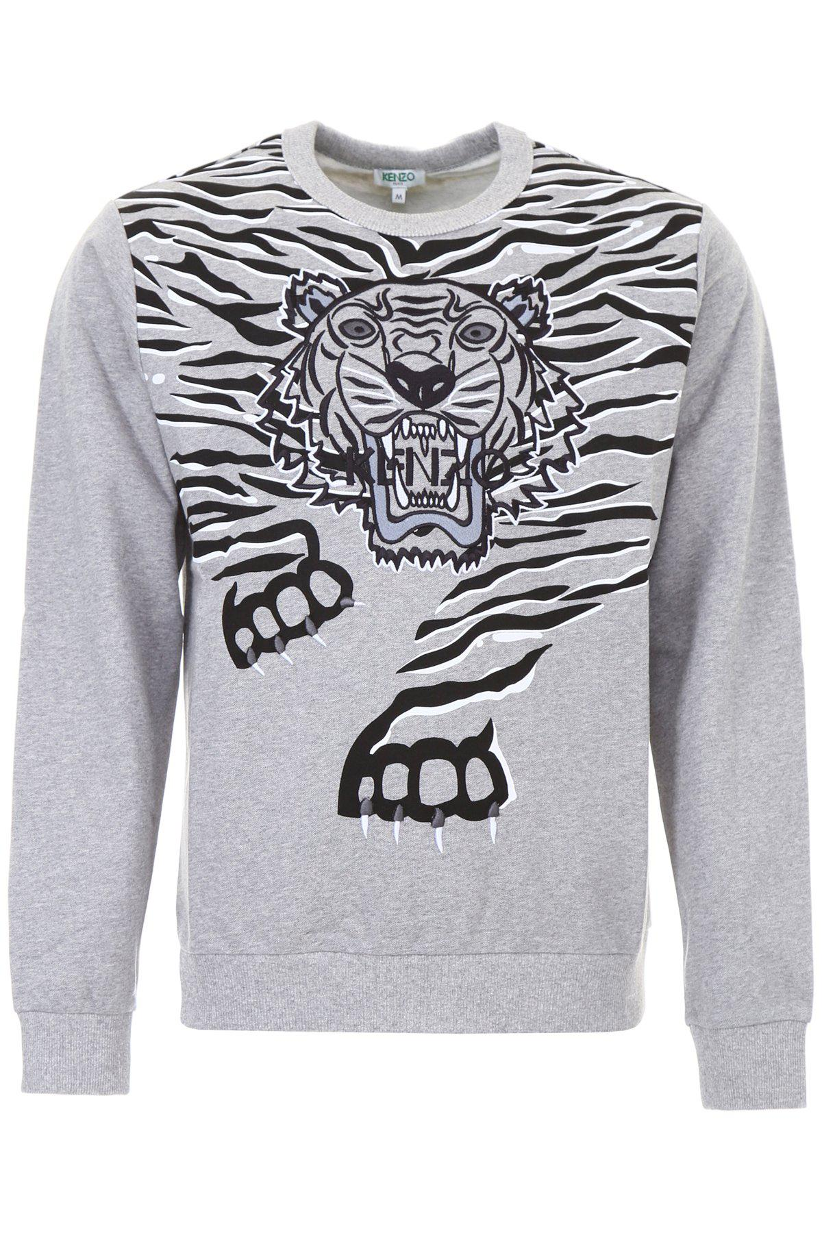 5fd940dce2 Lyst - Kenzo Tiger Print Sweater in Gray for Men