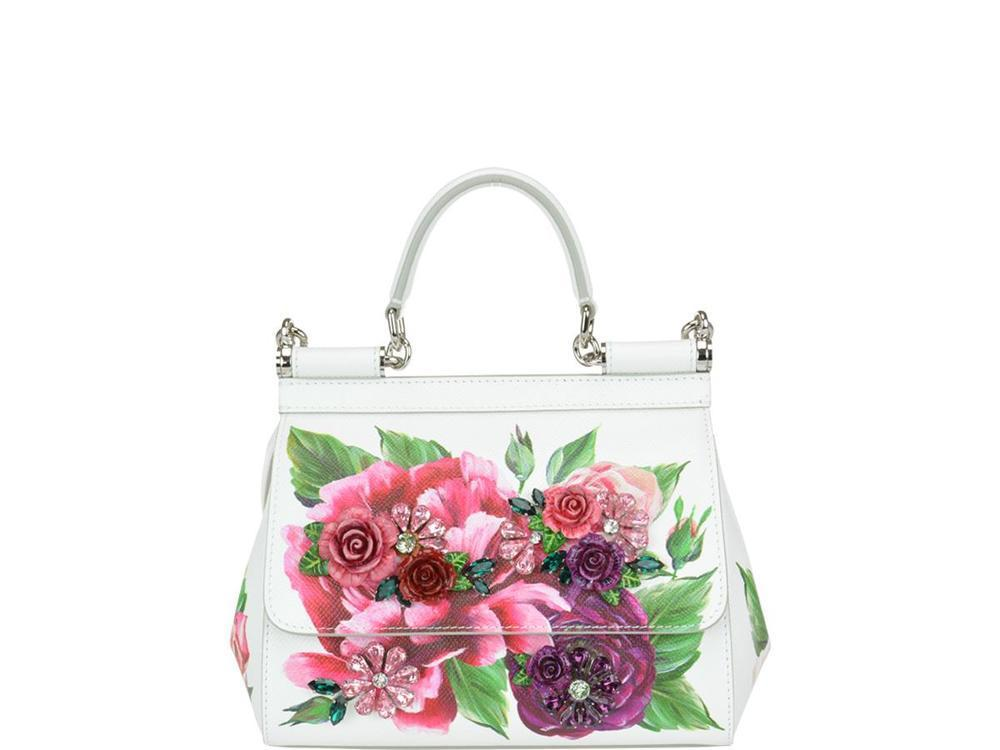 Dolce   Gabbana Sicily Mini Floral Print Tote Bag in White - Save ... c5131d9e2c9bd