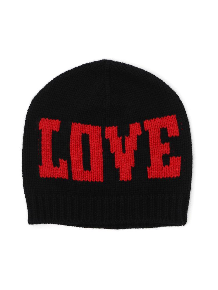 7347f792a2d Dolce   Gabbana Intarsia Knit Love Beanie Hat in Red - Lyst