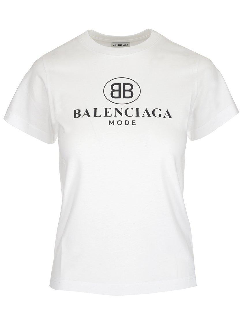 42b8831e4 Lyst - Balenciaga Logo Print T-shirt in White